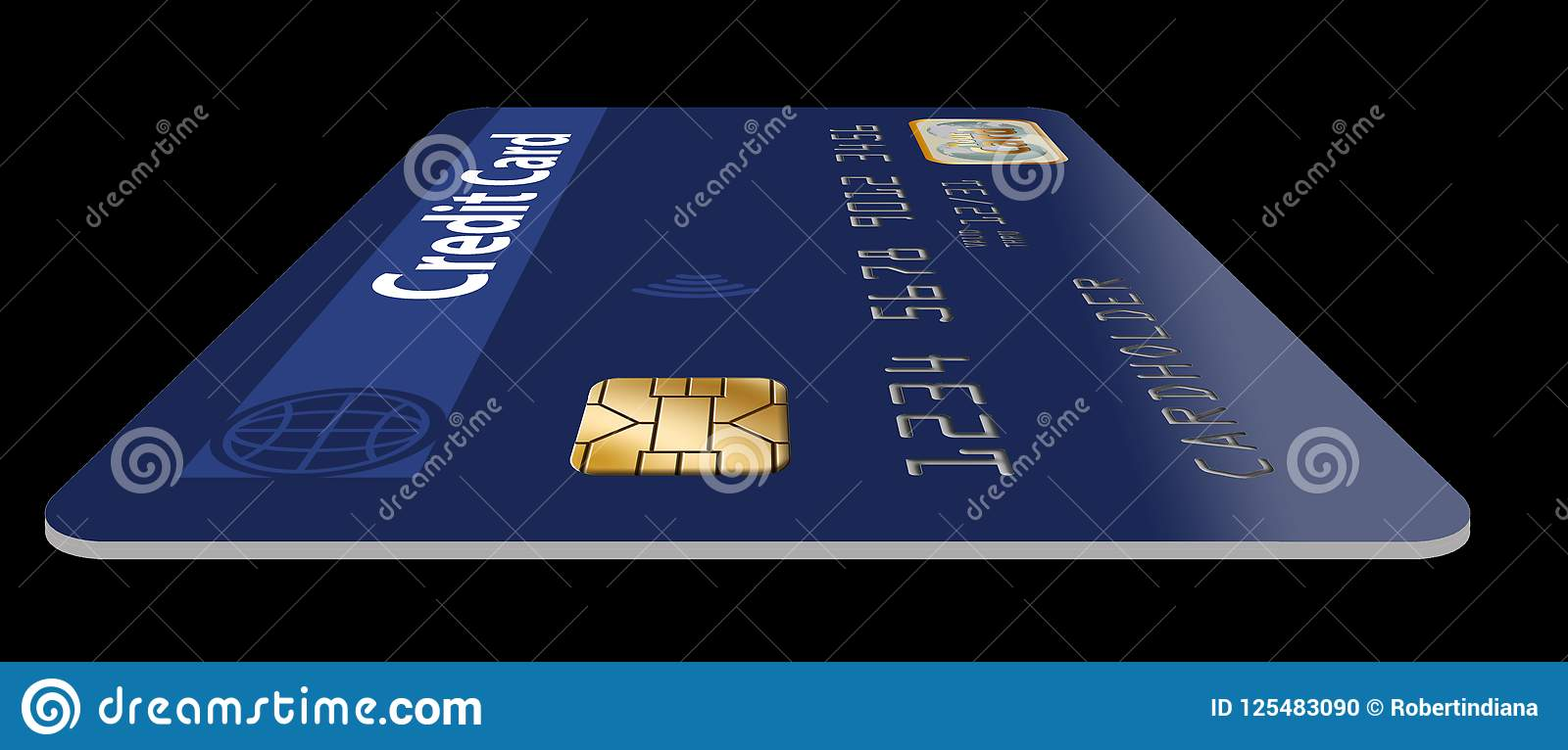 Here is a good view of an EMV chip on a credit card.