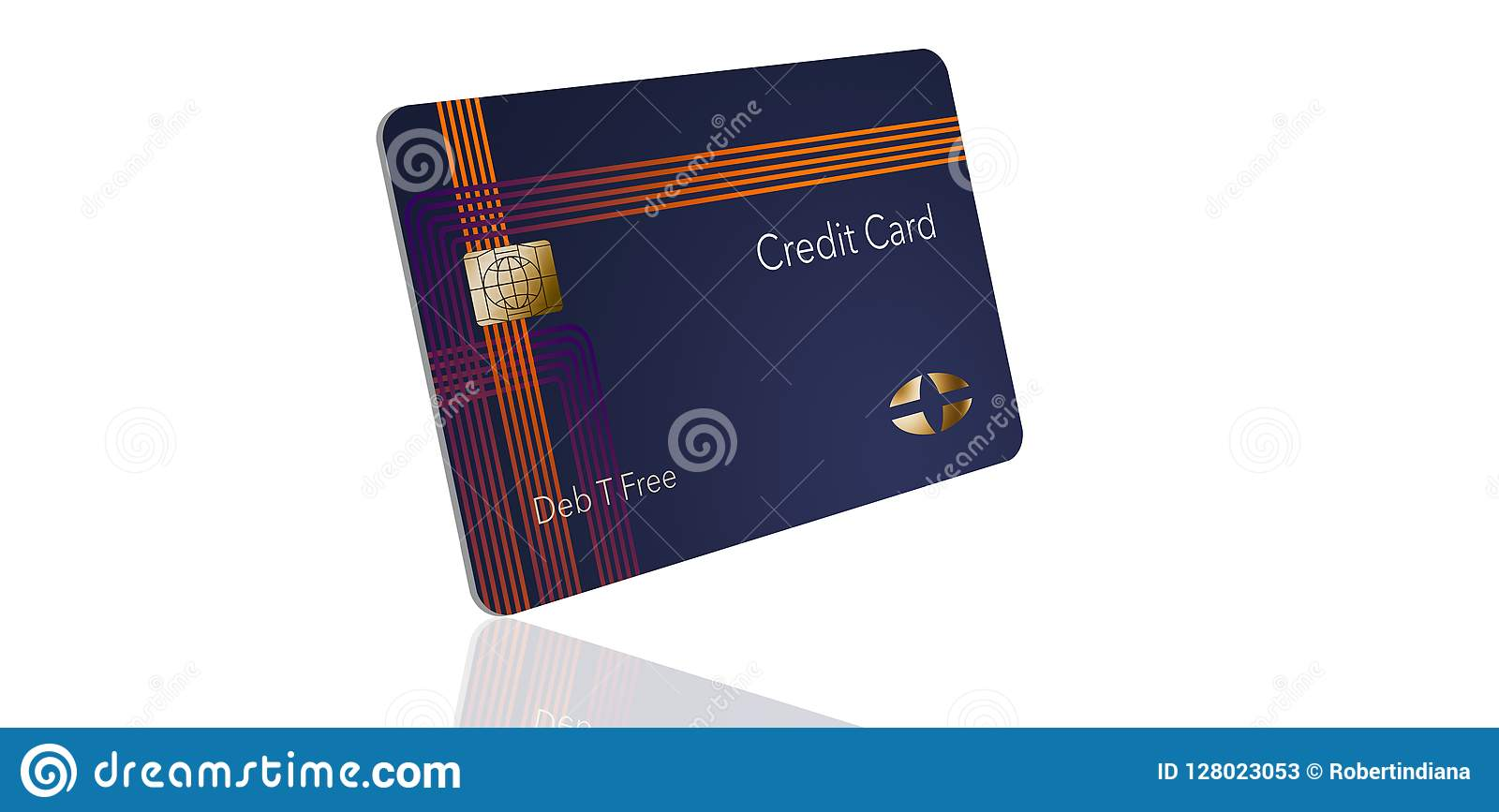here is a modern credit card that is a mock with generic