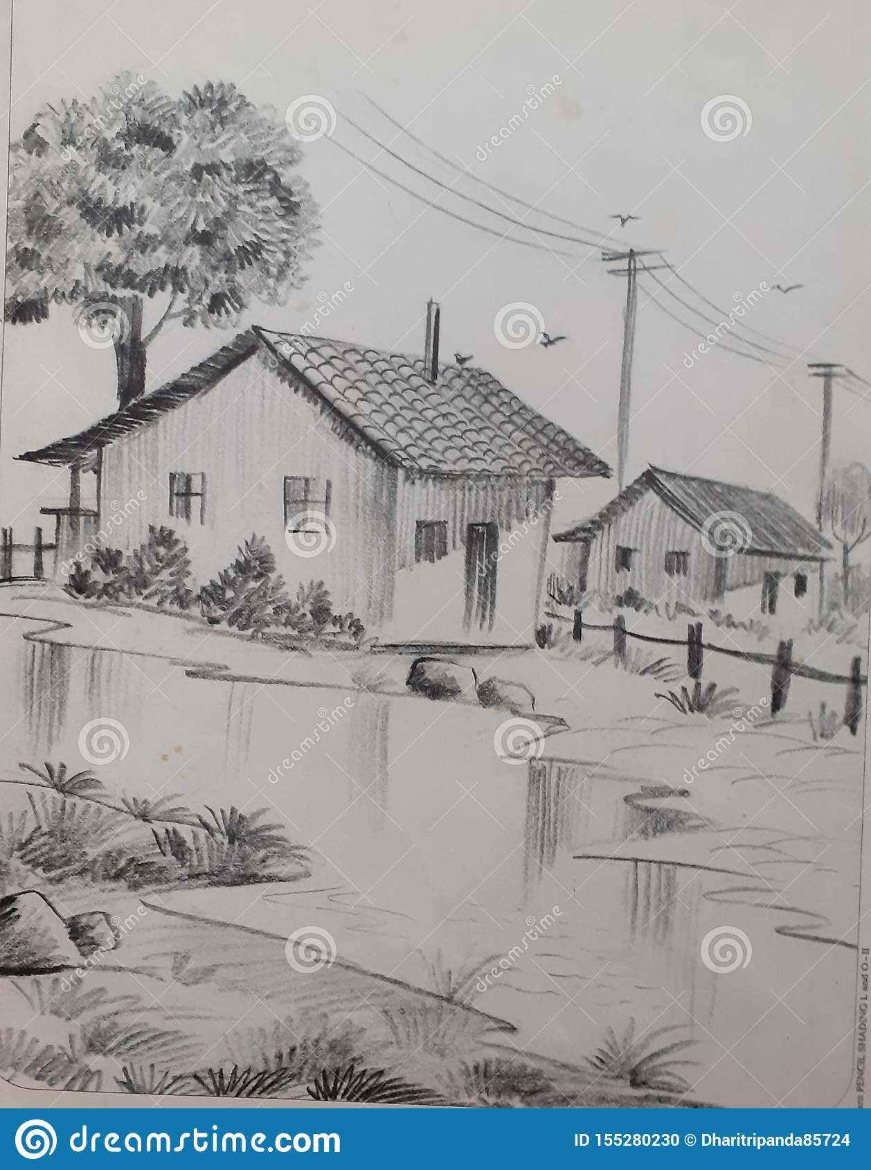 Landscape Pencil Shading Art This Is A Popular Way To Draw And Today This Article Will Show You How To Do It