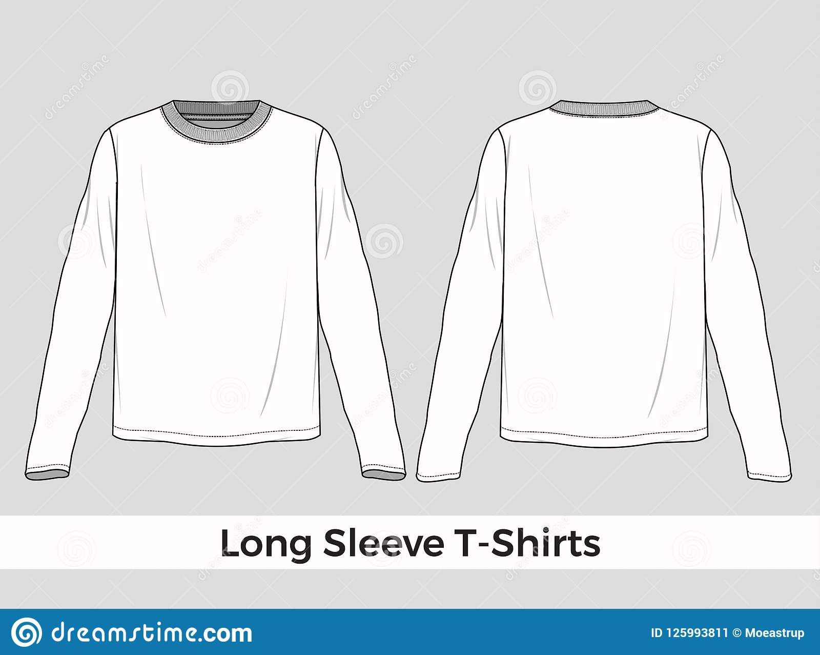 Long Sleeve T Shirt Template Stock Vector Illustration Of Grandad
