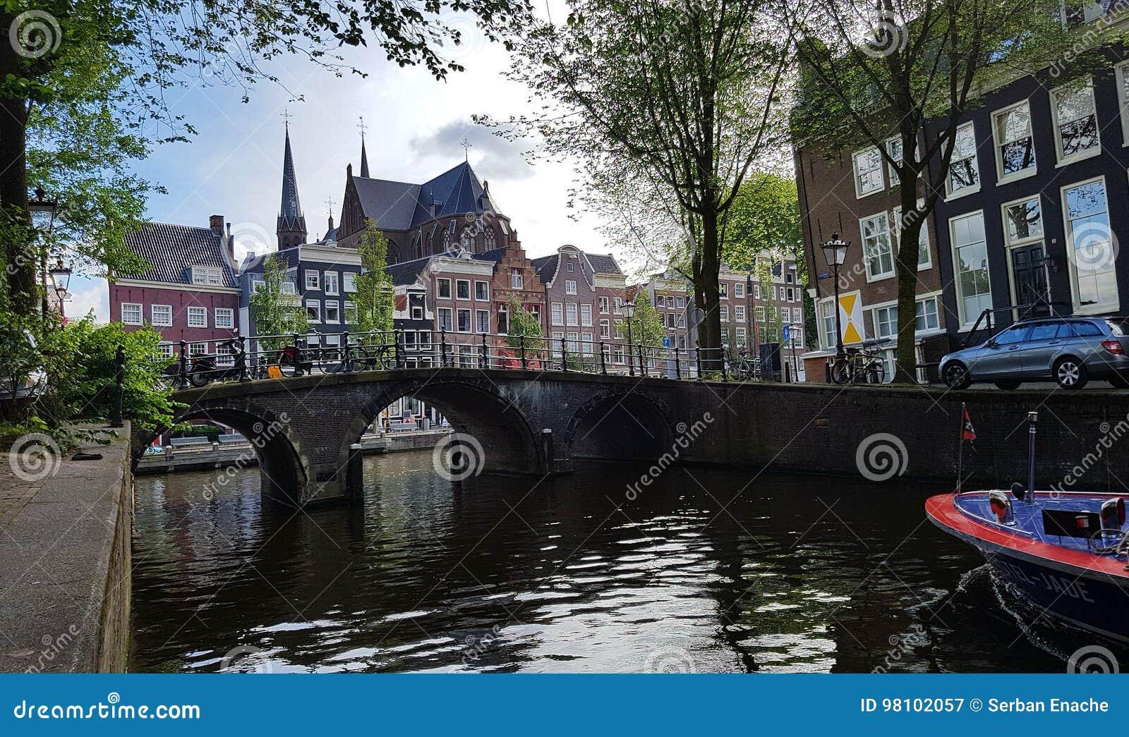 Herengracht运河在阿姆斯特丹