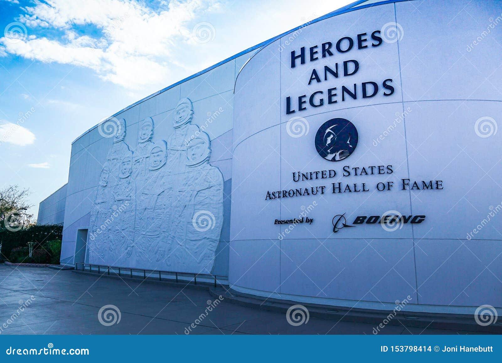 Hereos en legenden die, de Astronautenhall of fame van Verenigde Staten bouwen