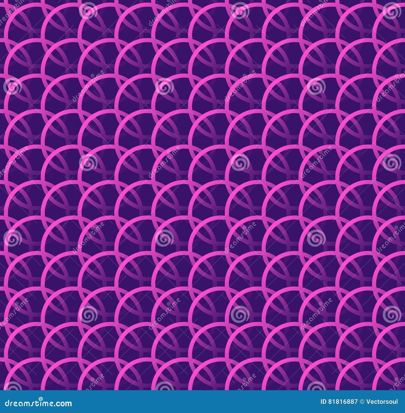Herhaalbare patroonw met elkaar verbindende cirkels, ringen Regelmatige monoc