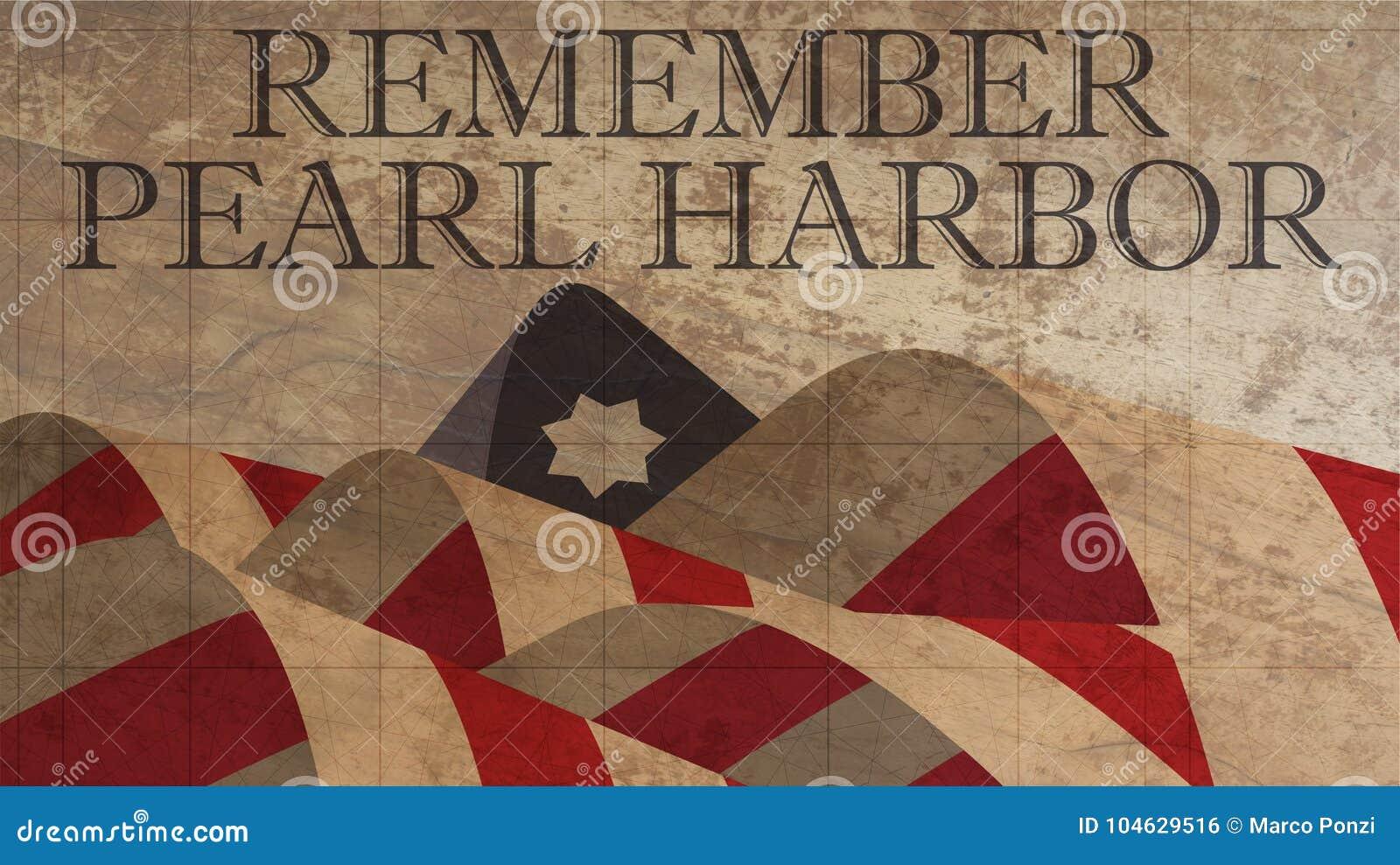 Download Herinner De Illustratie Van De Parelhaven Amerikaanse Vlag Op Hout Stock Illustratie - Illustratie bestaande uit vakantie, sterren: 104629516