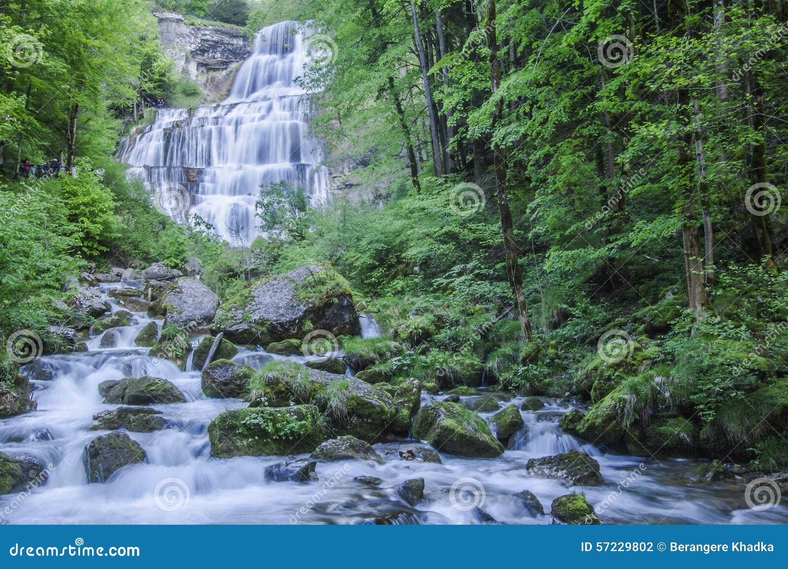 Herisson Nedgang I Jura Frankrike Arkivfoto Bild Av Horisontal Fall 57229802