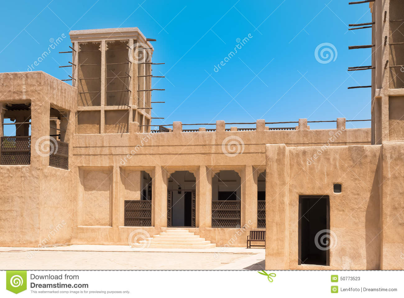 Heritage house in dubai uae stock photo image 50773523 for Home of architecture uae