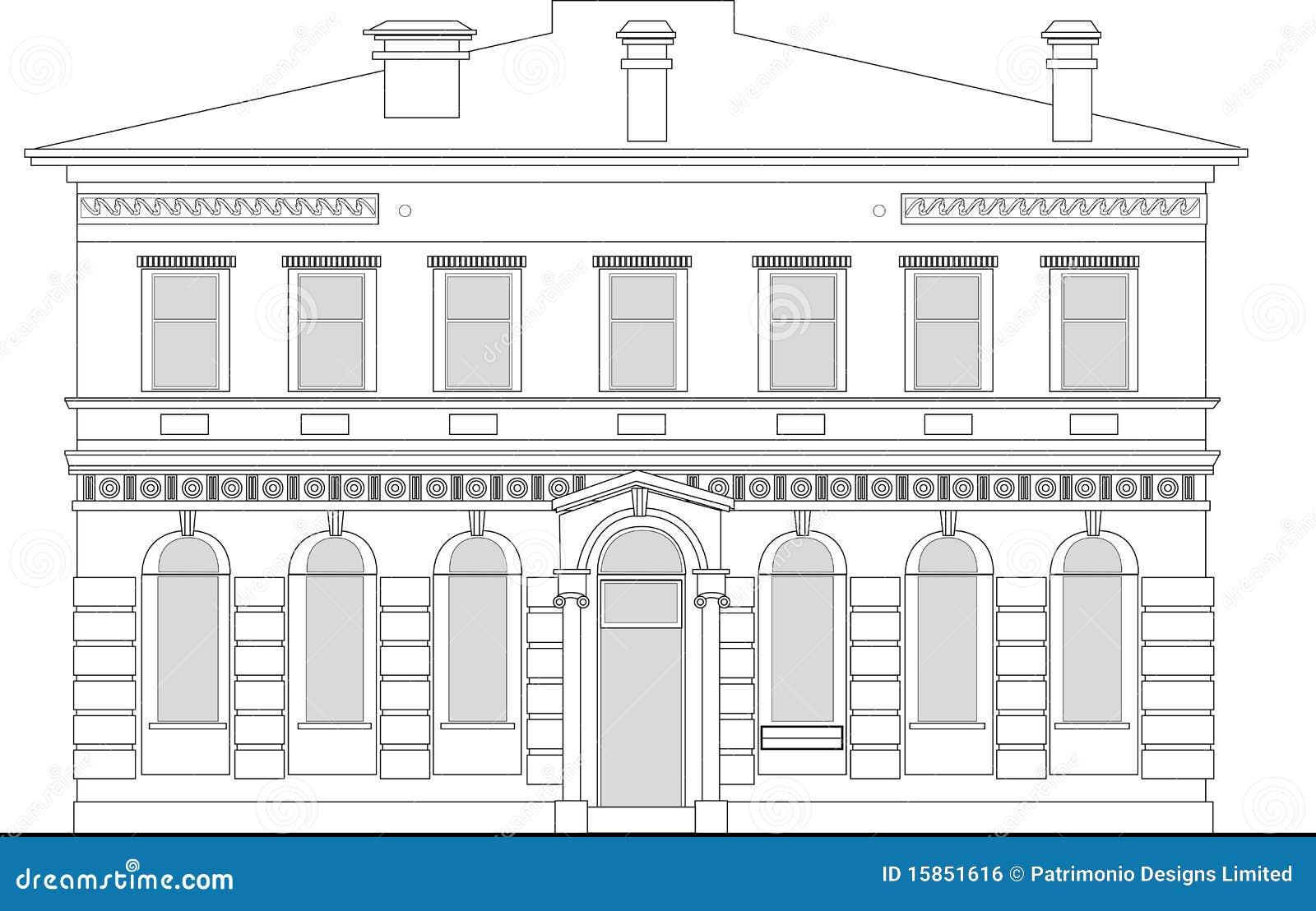 Heritage Mansion Building Stock Illustration Image Of