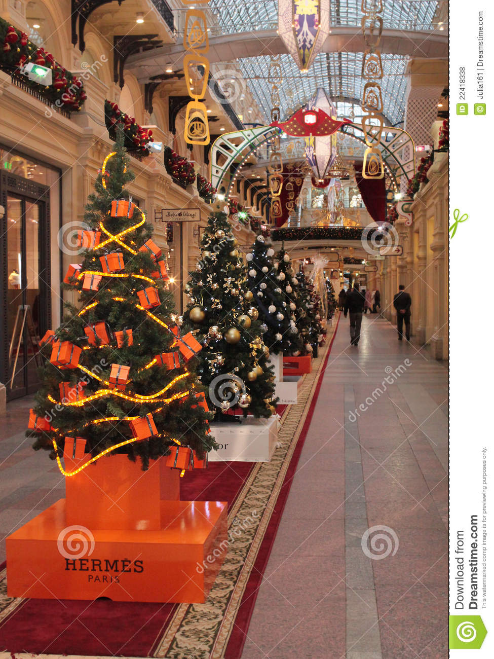 Hermes shop christmas decoration editorial stock photo image 22418338 for Photo decoration
