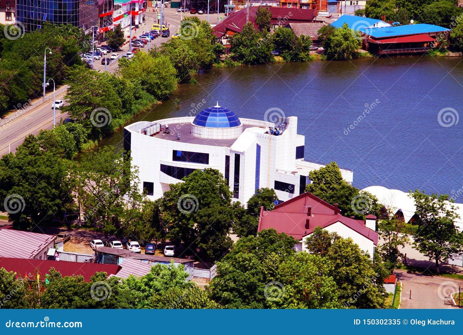 Hermosa vista de la ciudad de Krasnodar