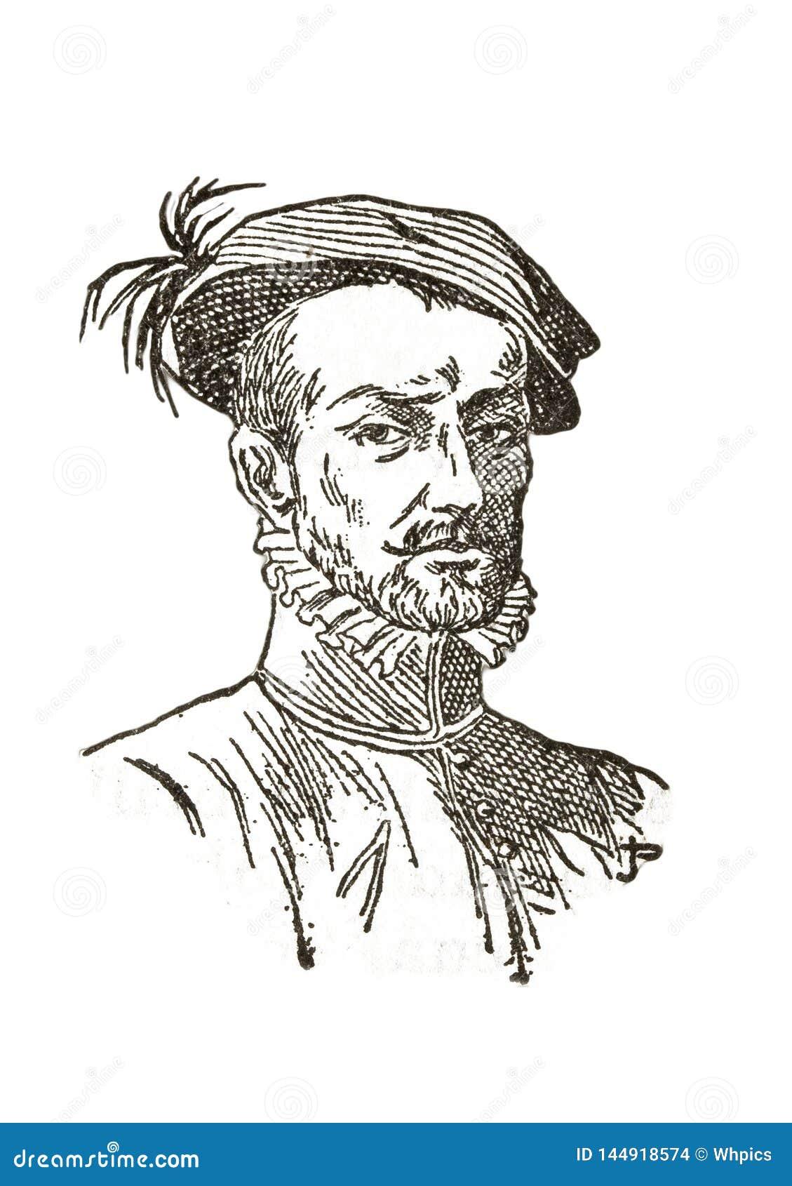Hernan Cortes portret