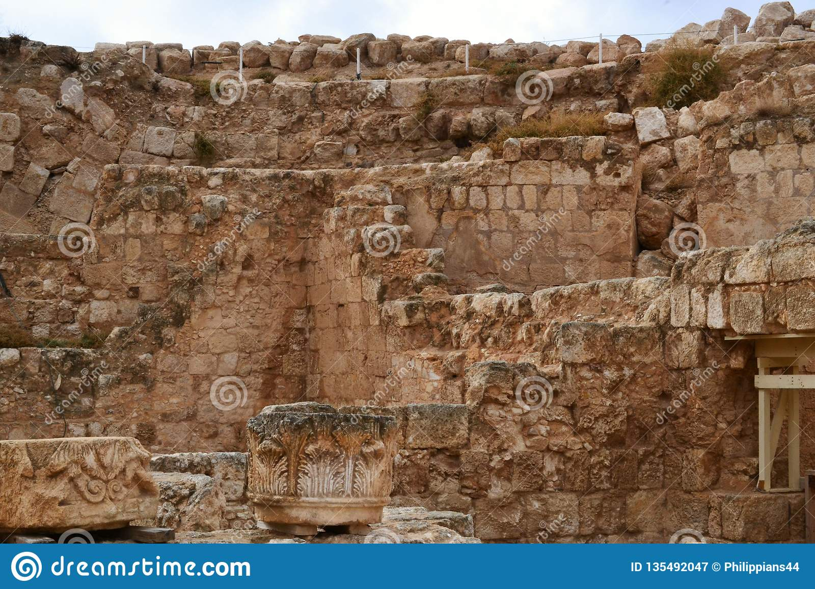 Herodium Herodion, fortaleza de Herod a grande, vista do território palestino, westbank, Palestina, Israel