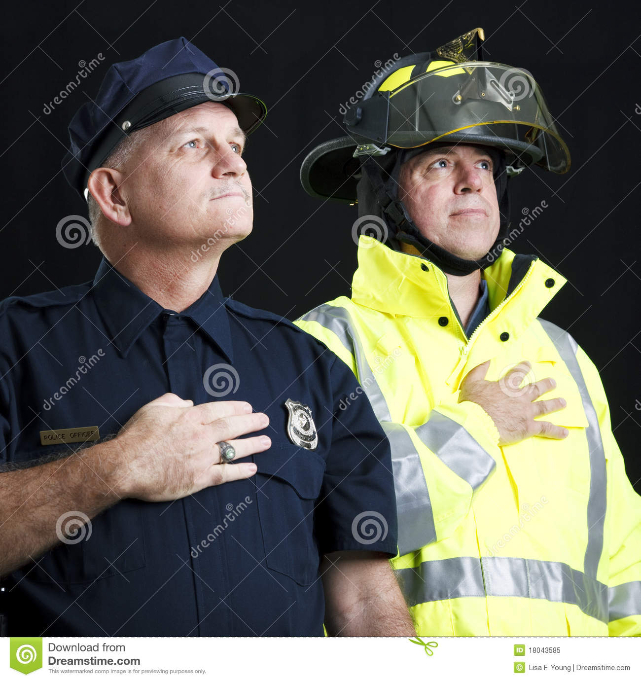 Heroic First Responders Stock Image Image Of Fire Aged
