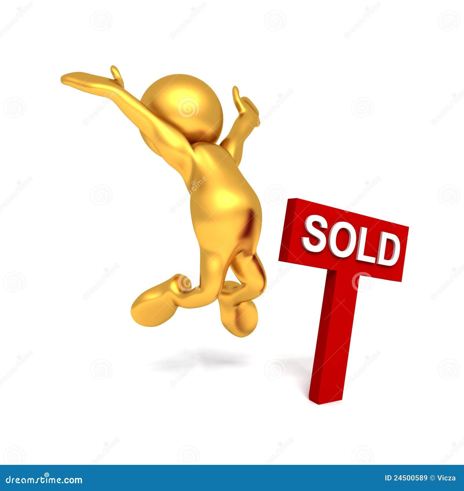 Herr Goldman - Freude Am Verkauf Stock Abbildung - Illustration von ...