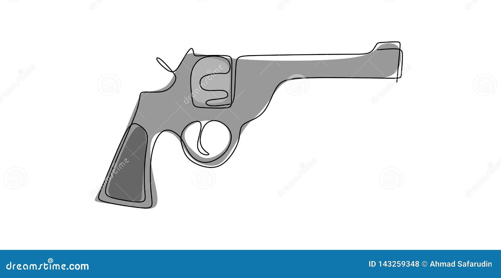 Herramienta Continua Del Dibujo Lineal Para Tirar Un Arma