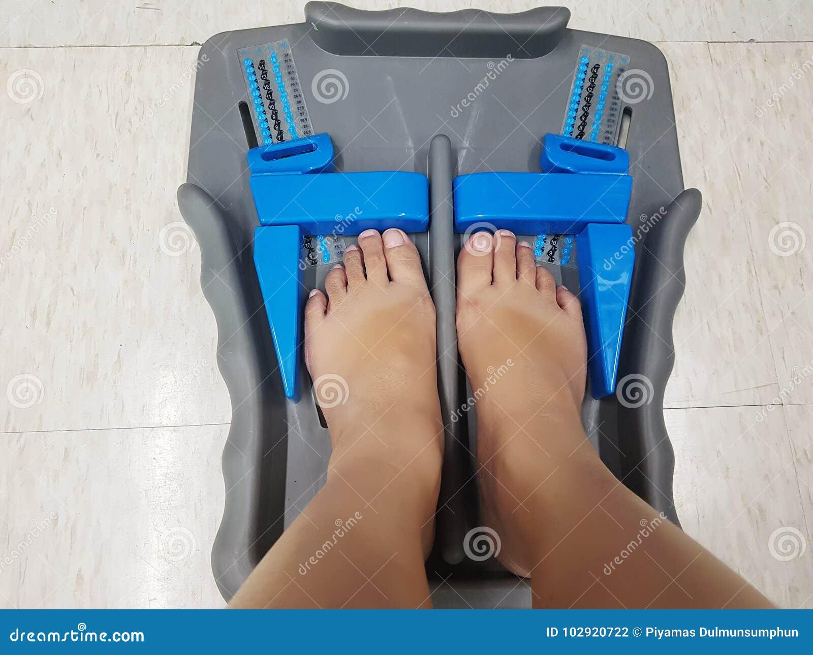 Herramienta de la medida del pie - pies del cliente de tamaño del zapato de la medida