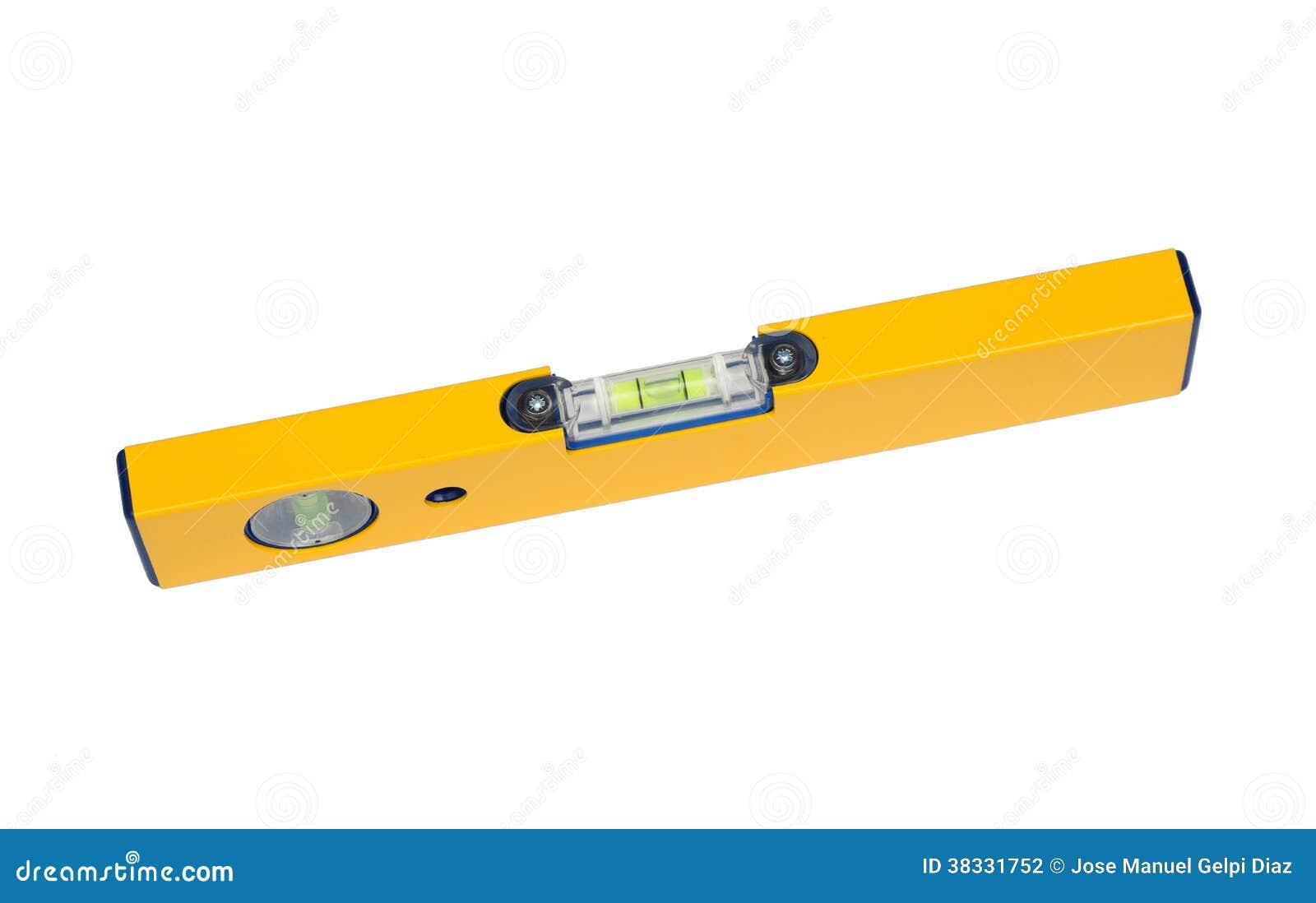 Herramienta de la precisi n un nivel amarillo fotograf a for Nivel de precision