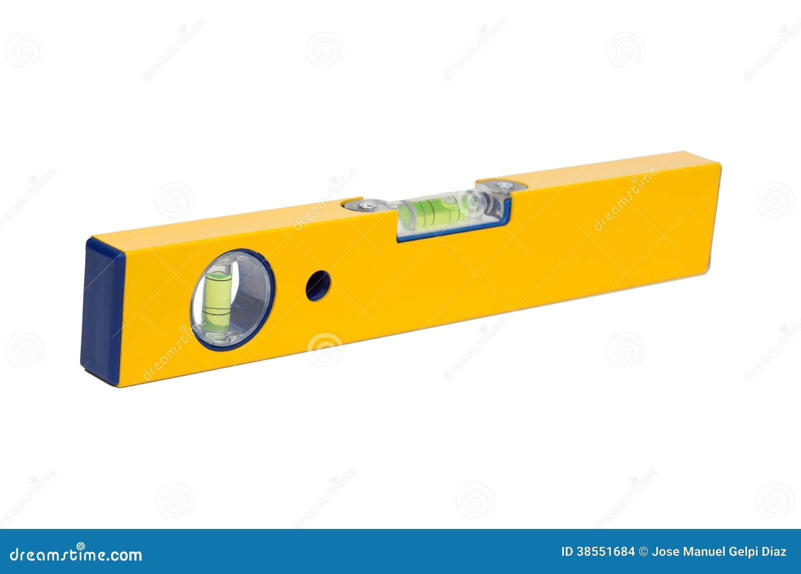 Herramienta de la precisi n un nivel amarillo foto de for Nivel de precision