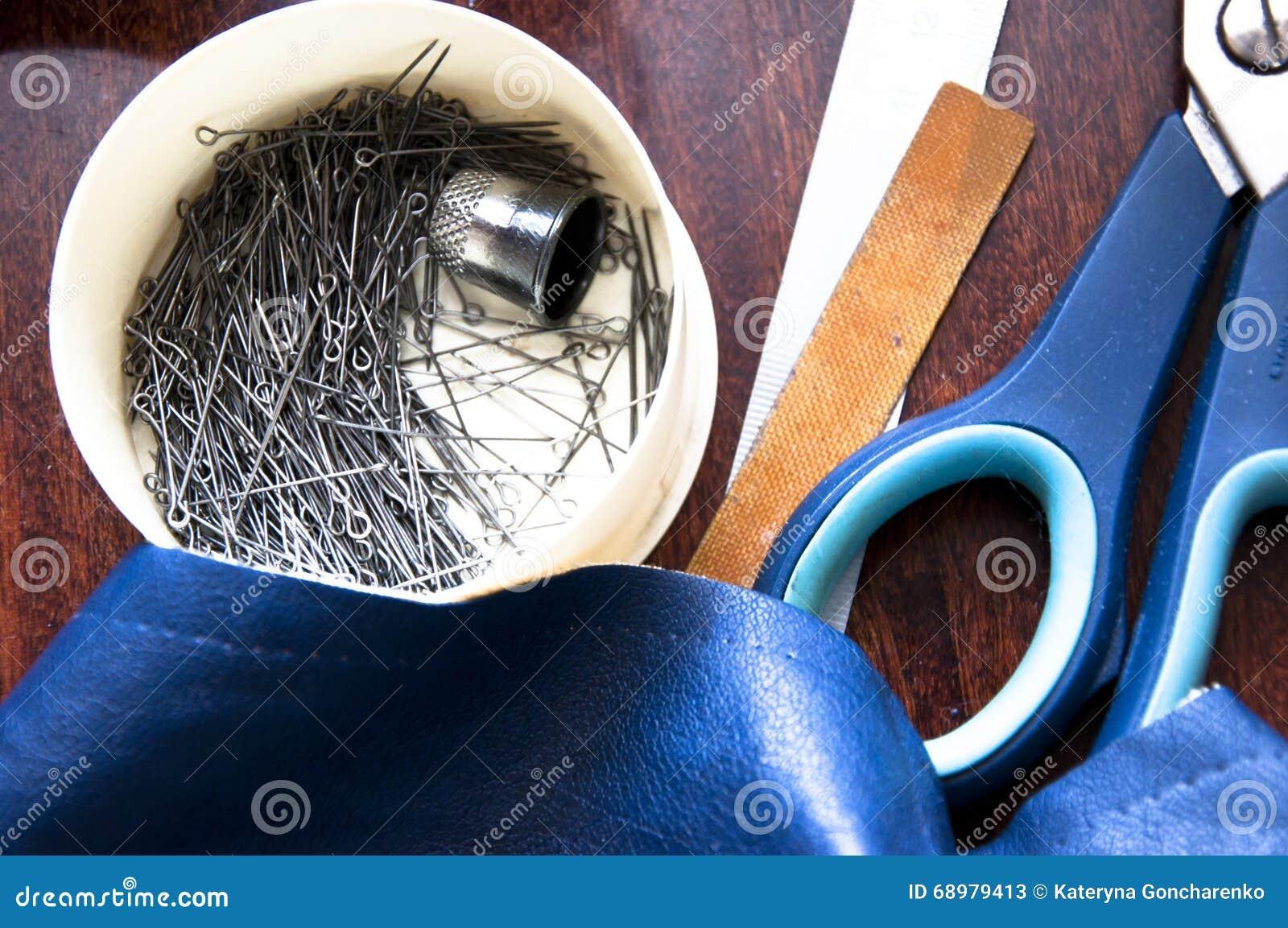 Herramientas de costura del taller