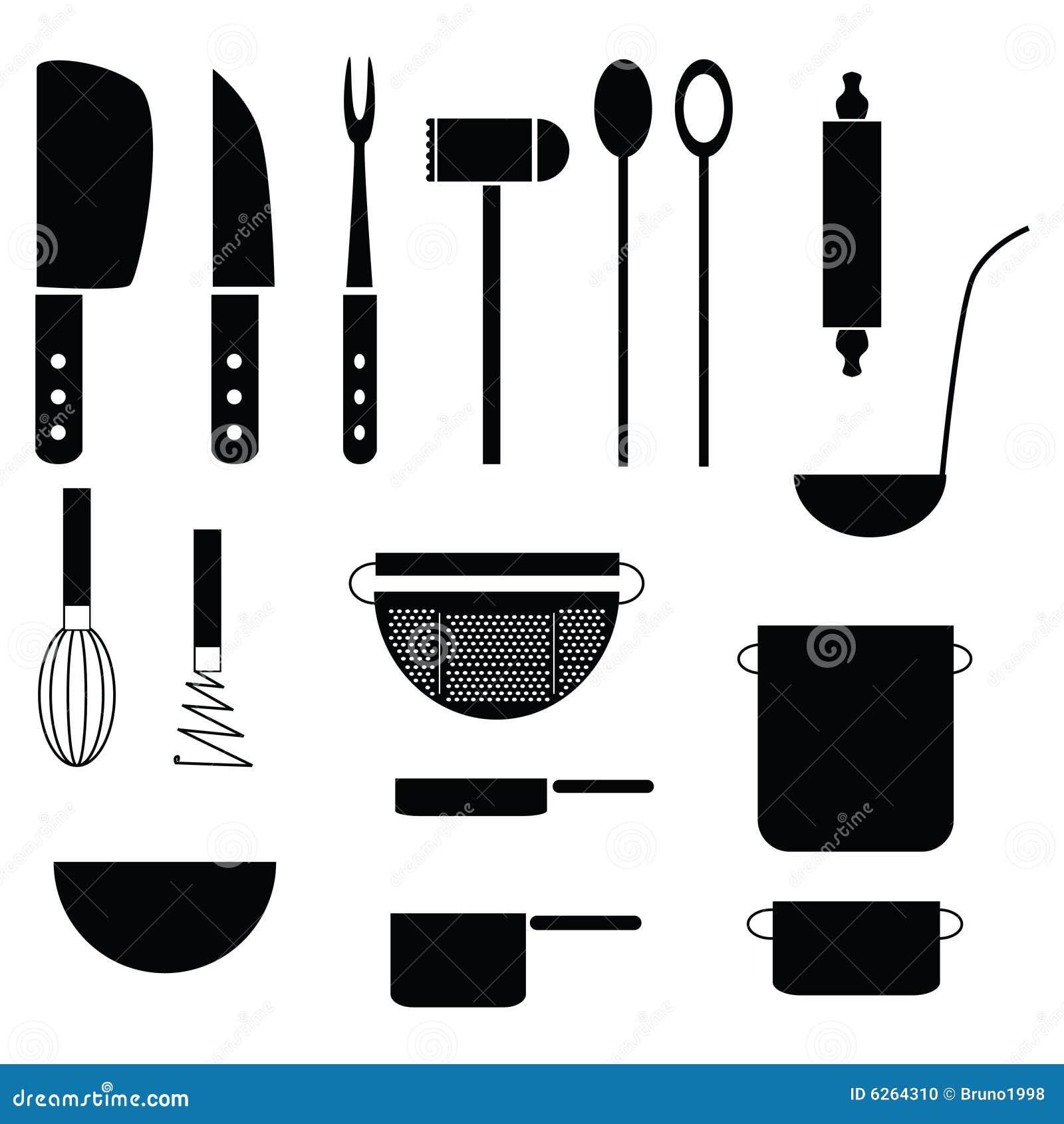 herramientas de la cocina foto de archivo imagen 6264310