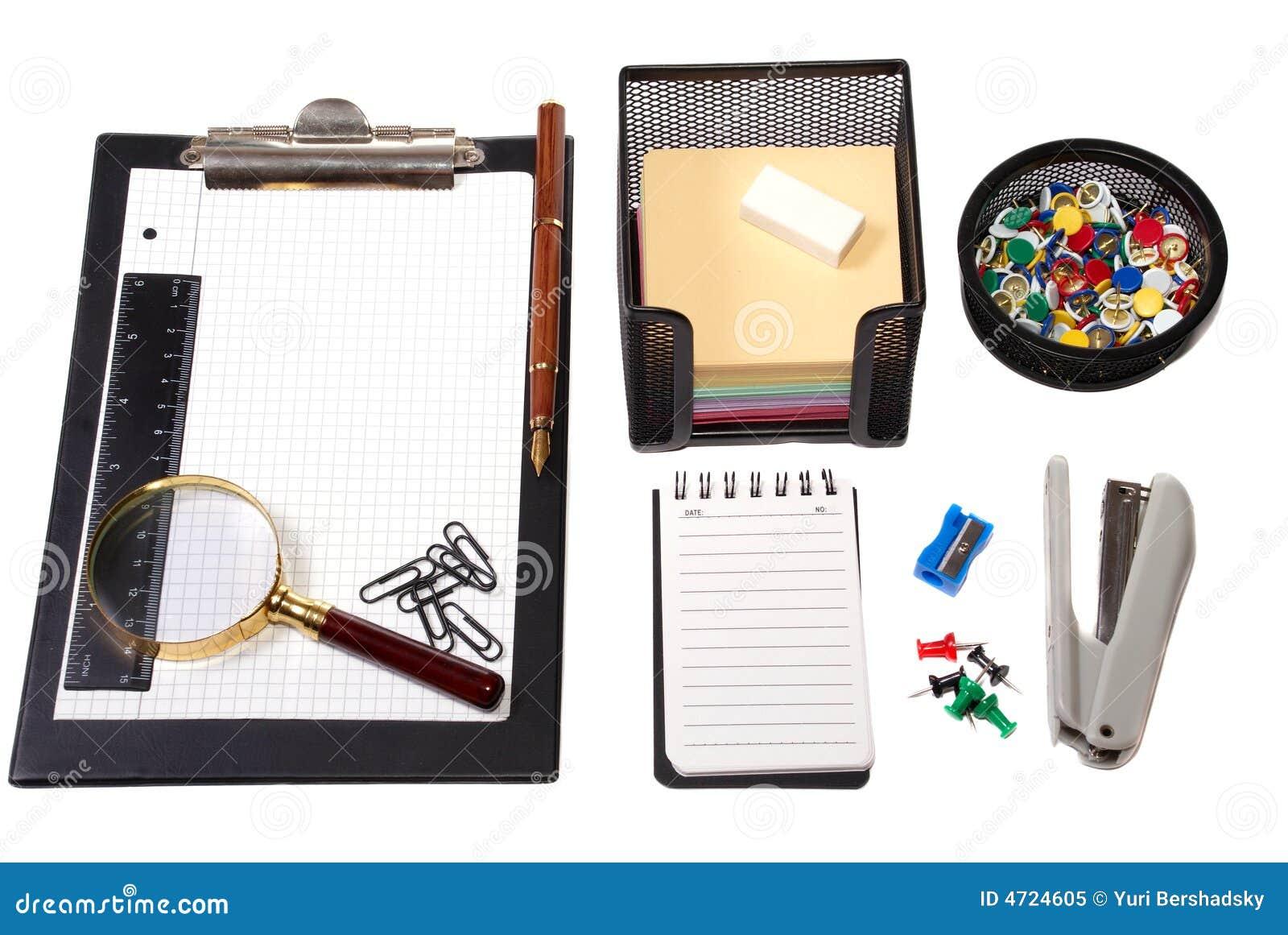 Herramientas de la oficina foto de archivo libre de for Herramientas de oficina