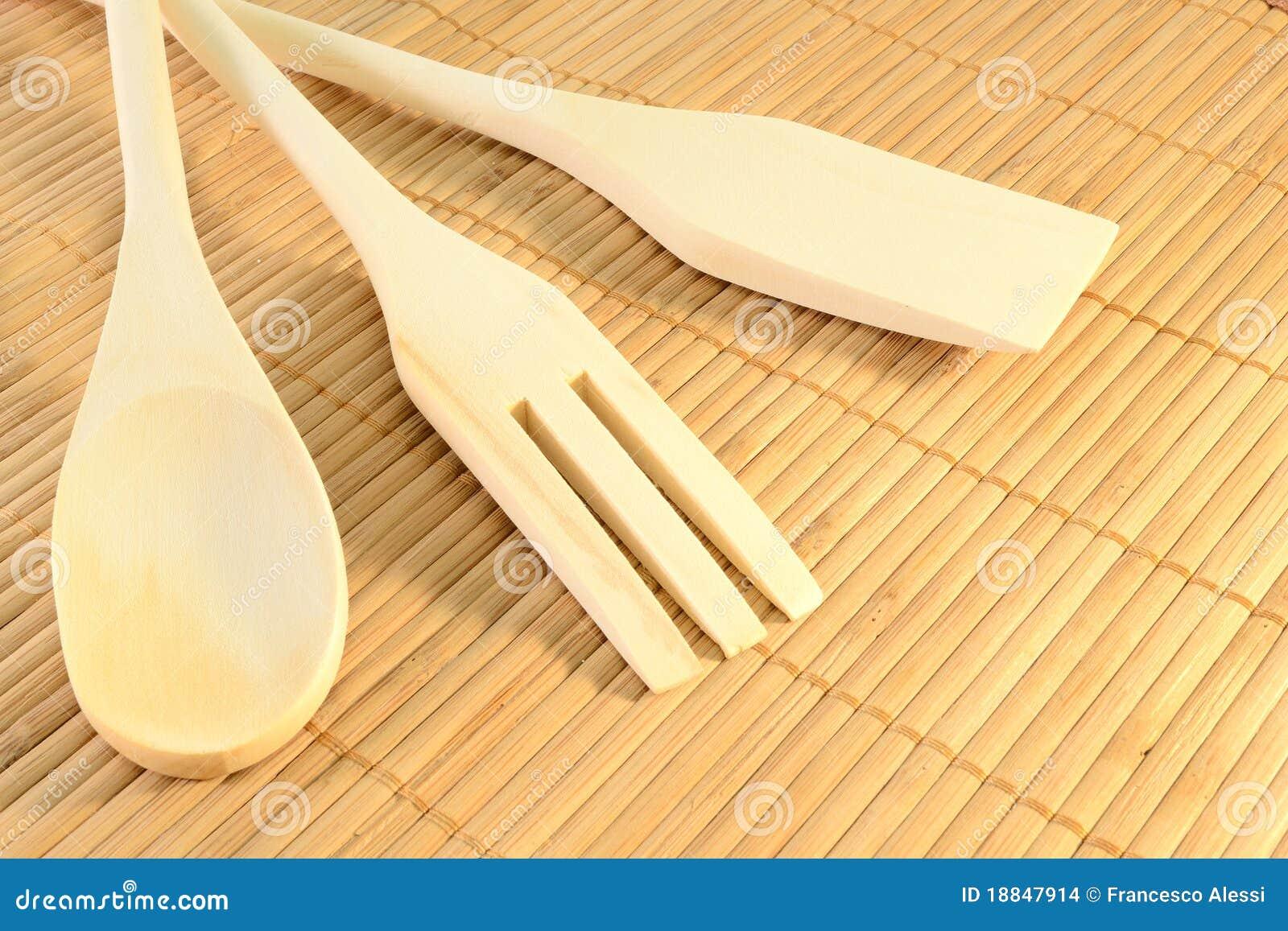 Herramientas de madera de la cocina imagenes de archivo - Herramientas de madera ...