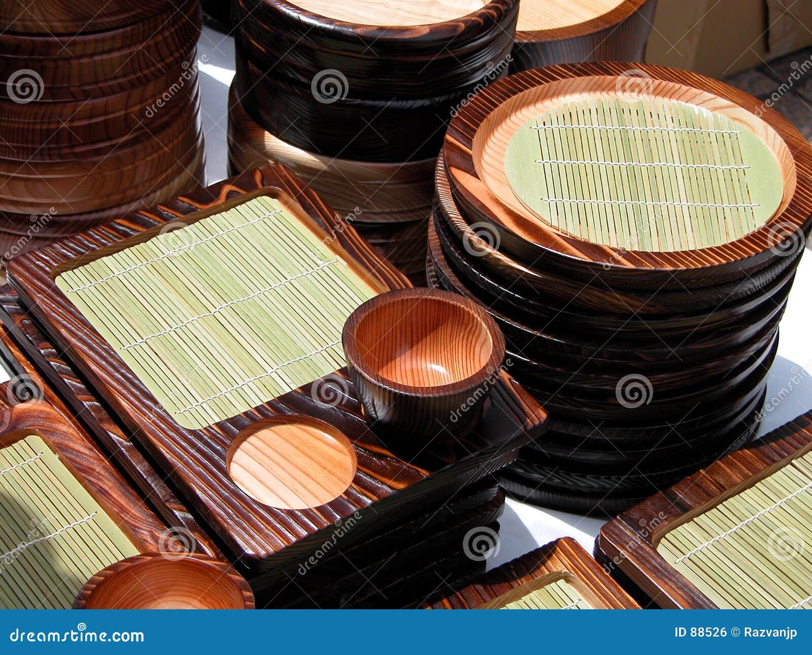 Herramientas de madera de la cocina