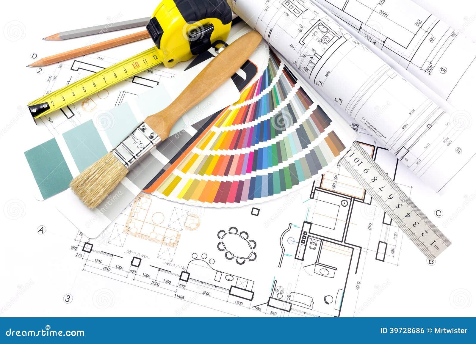 Herramientas del trabajo del arquitecto encendido foto de for Trabajo de arquitecto