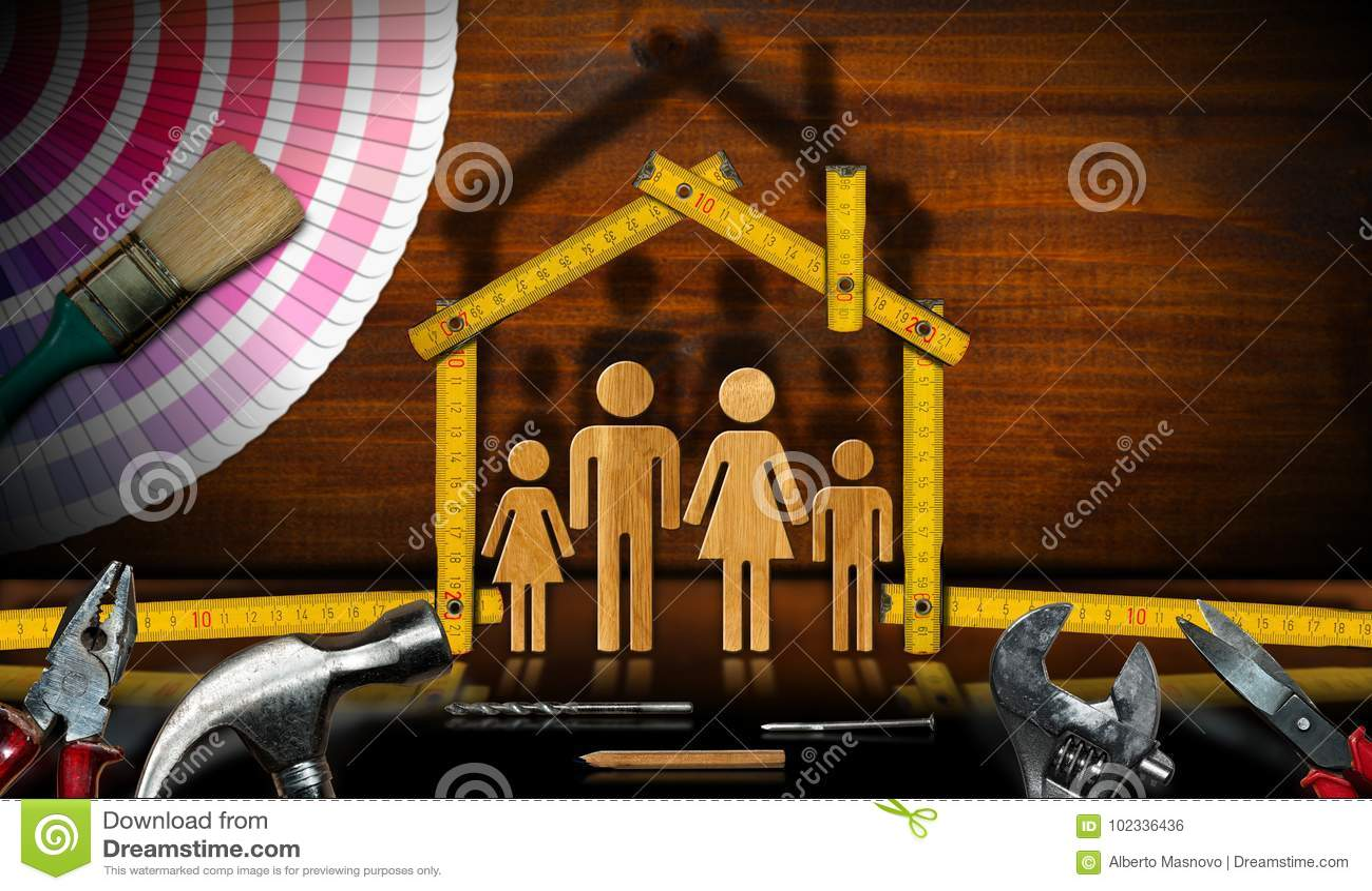 Herramientas Y House Modelo Mejoras Para El Hogar Del