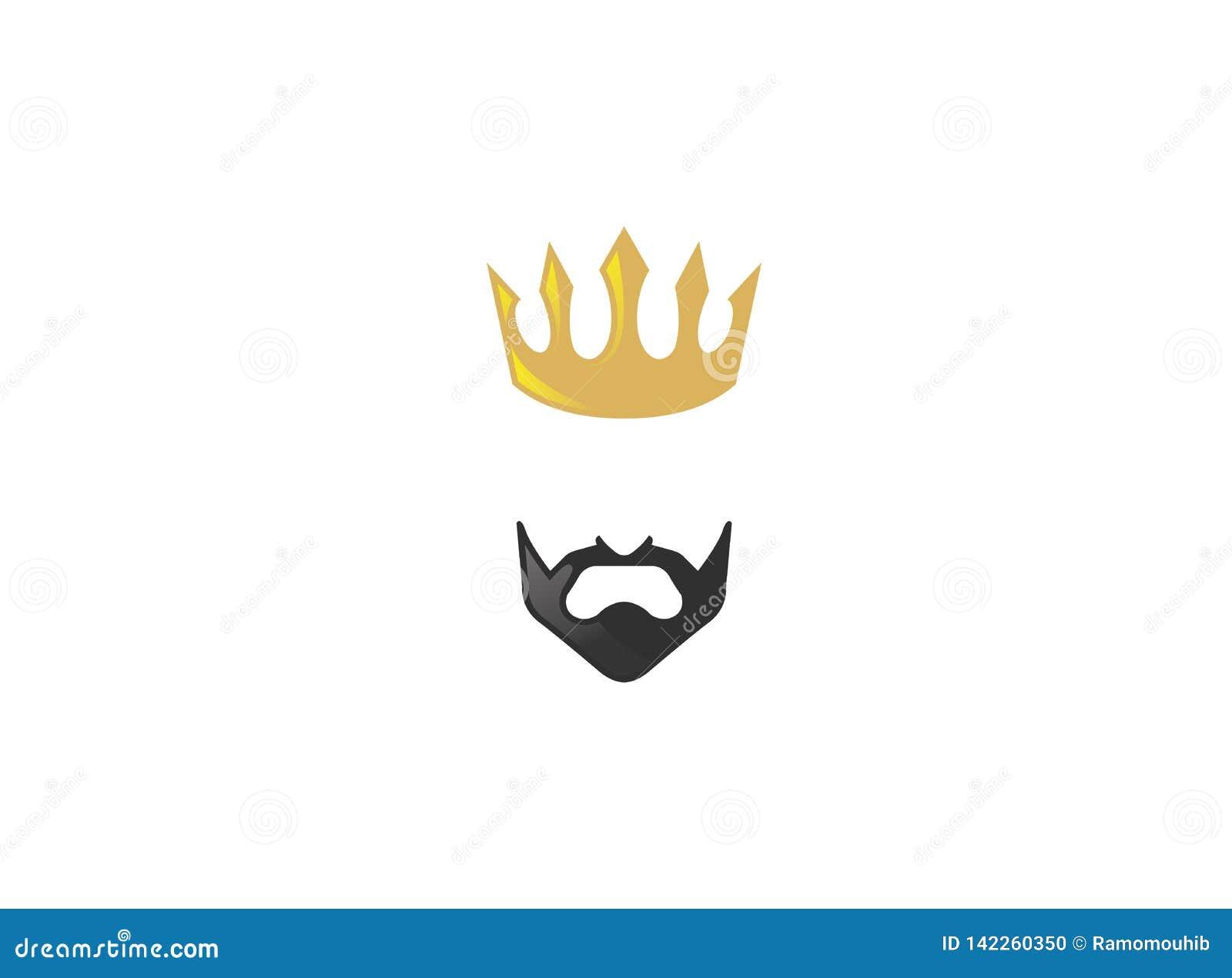 Herre och guld- krona för konung med det svarta skägget