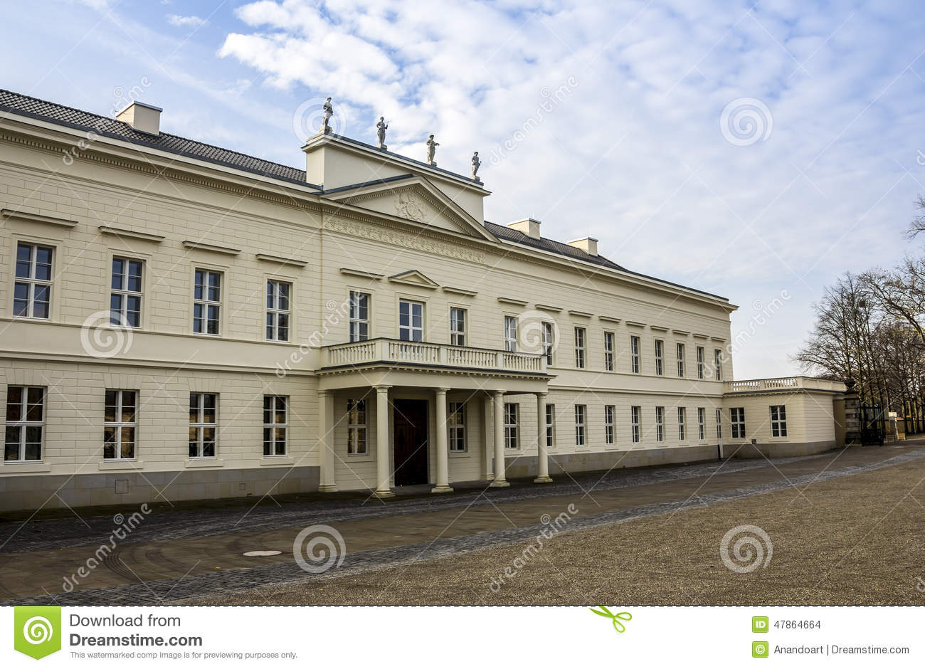 Herrenhausen palace northern facade editorial stock image for The hanover house