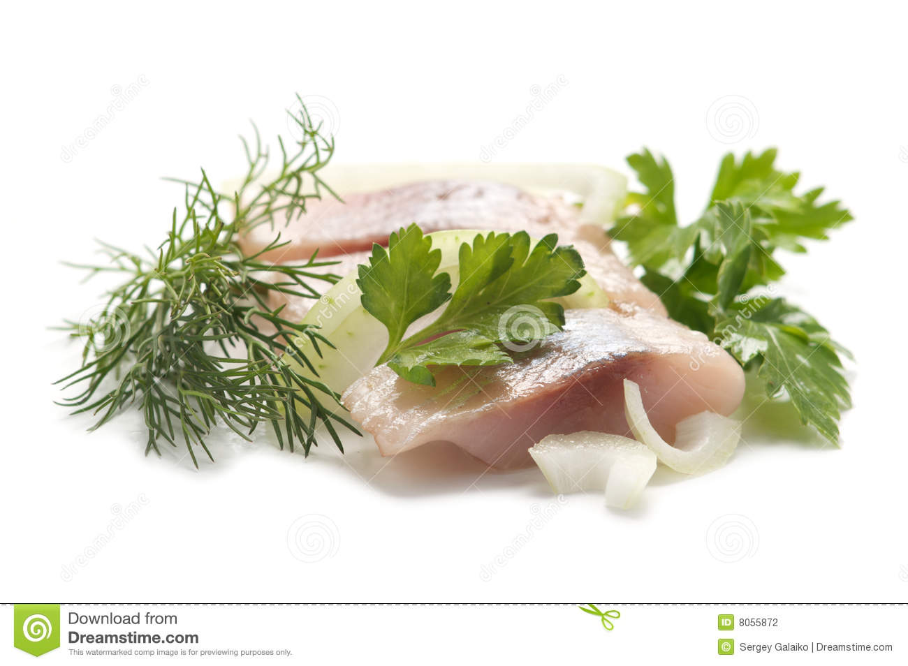Herring with aromatic herbs stock photography image 8055872 for Aromatic herb for fish