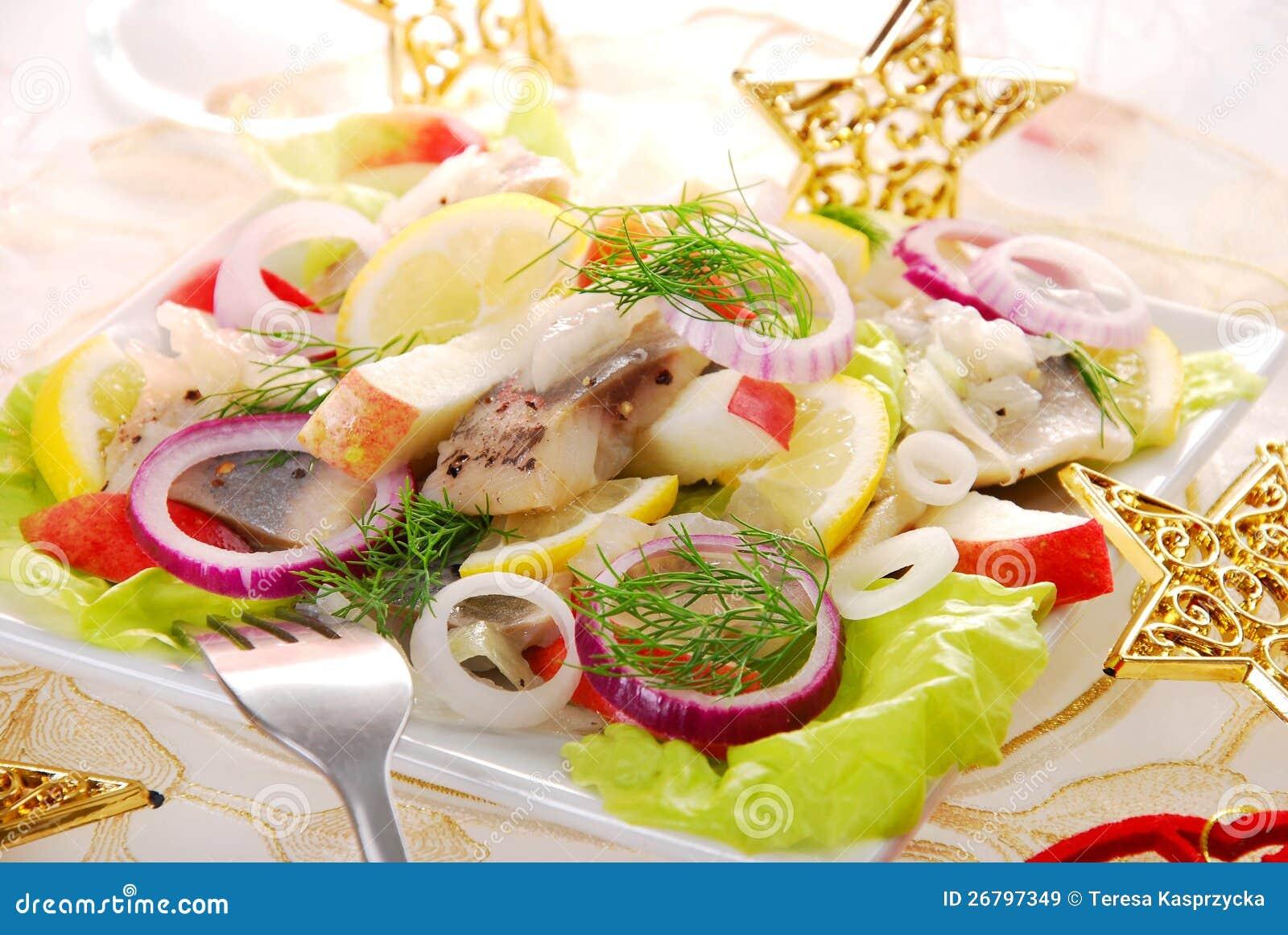 Herring salad with apple