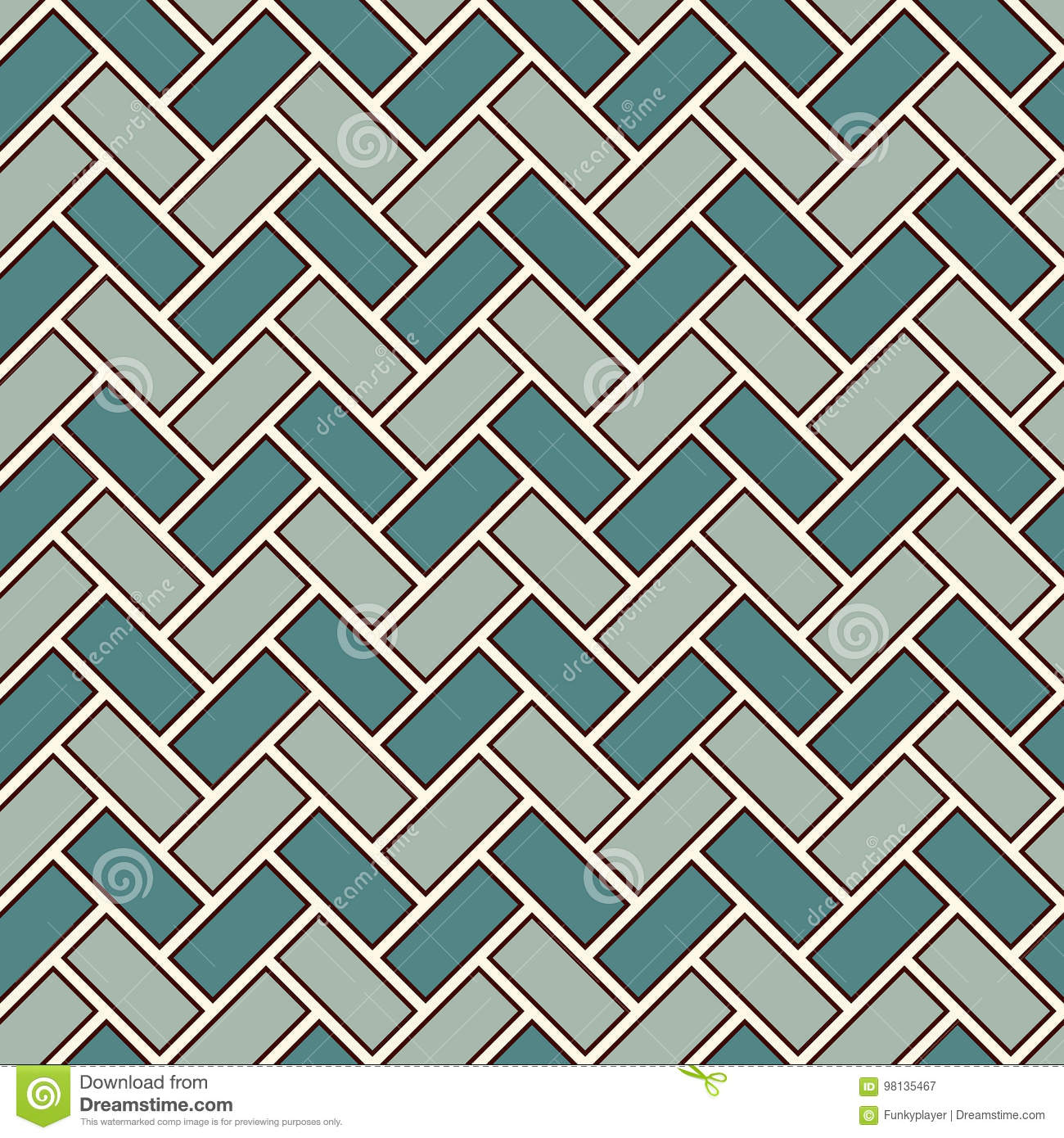 Herringbone wallpaper. Parquet background. Seamless pattern with repeated rectangular tiles. Classic geometric ornament