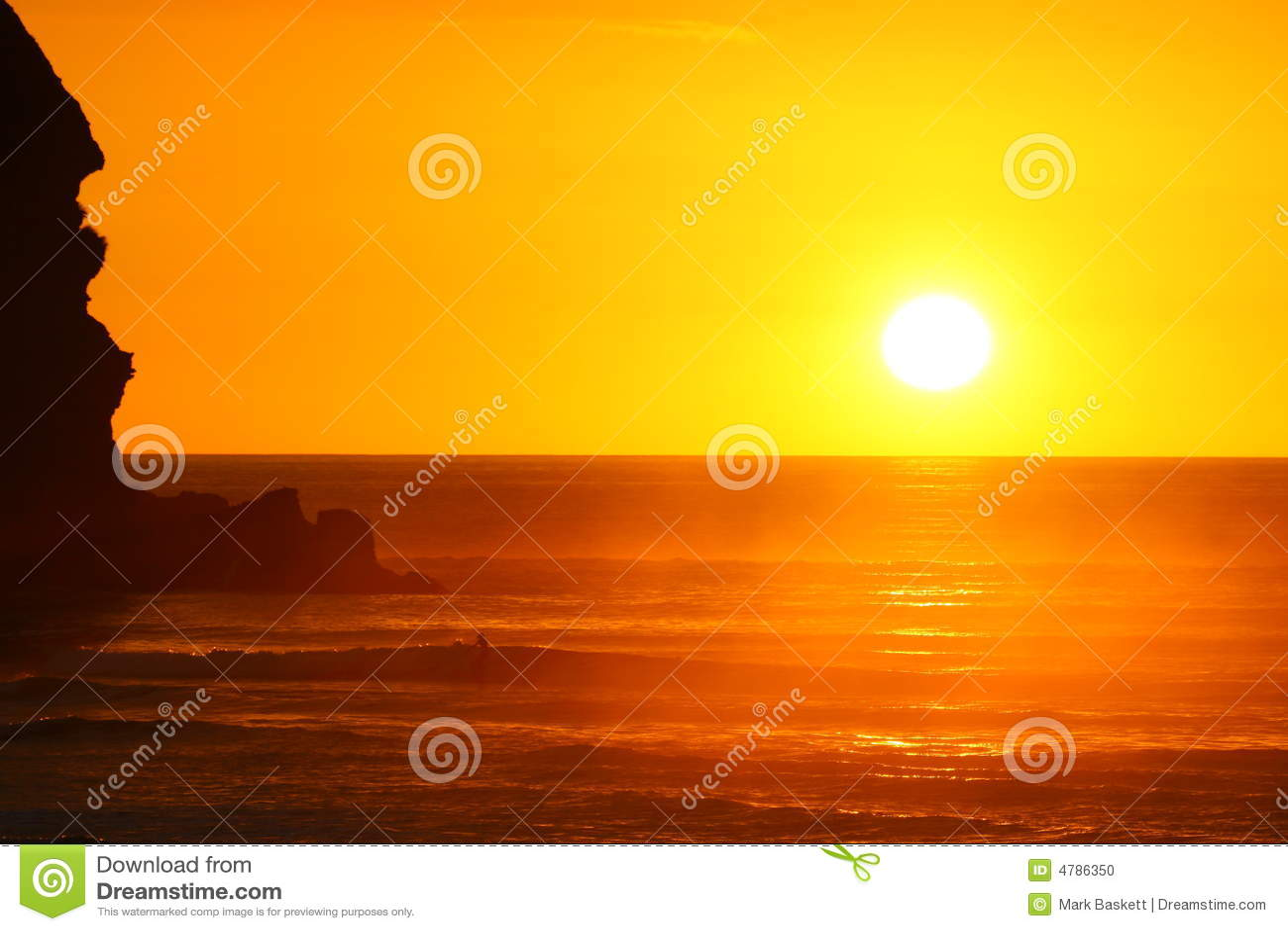 Herrlicher Sonnenuntergang am Piha Strand