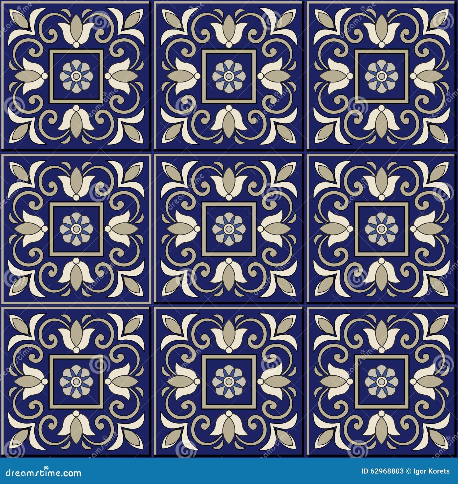 herrliches nahtloses muster marokkanische portugiesische. Black Bedroom Furniture Sets. Home Design Ideas