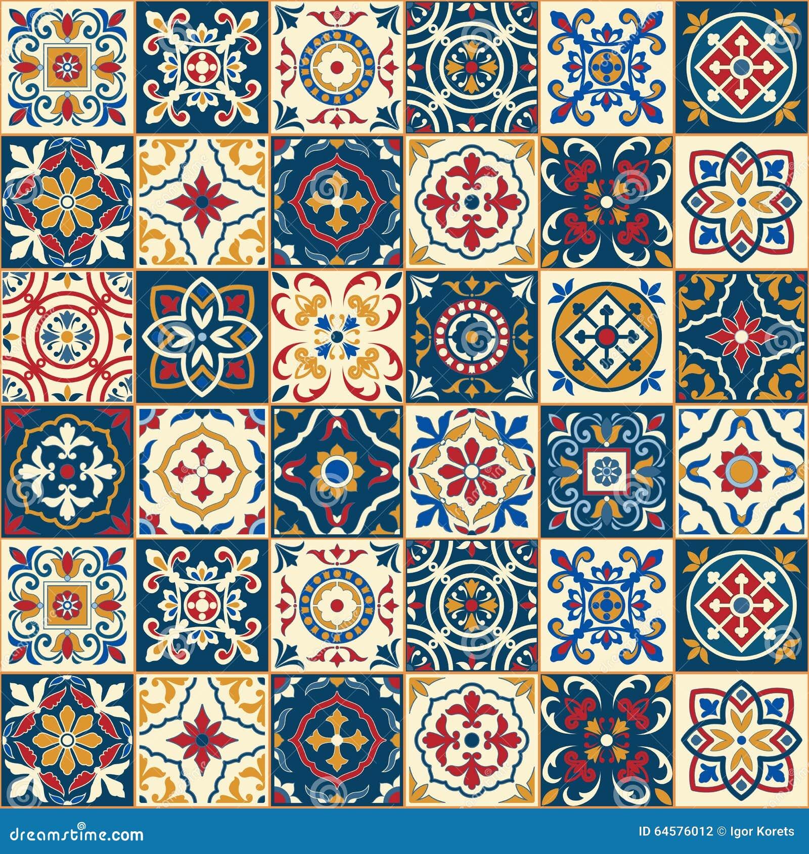 Herrliches Nahtloses Muster Marokkanische Portugiesische Fliesen - Portugiesische fliesen azulejos
