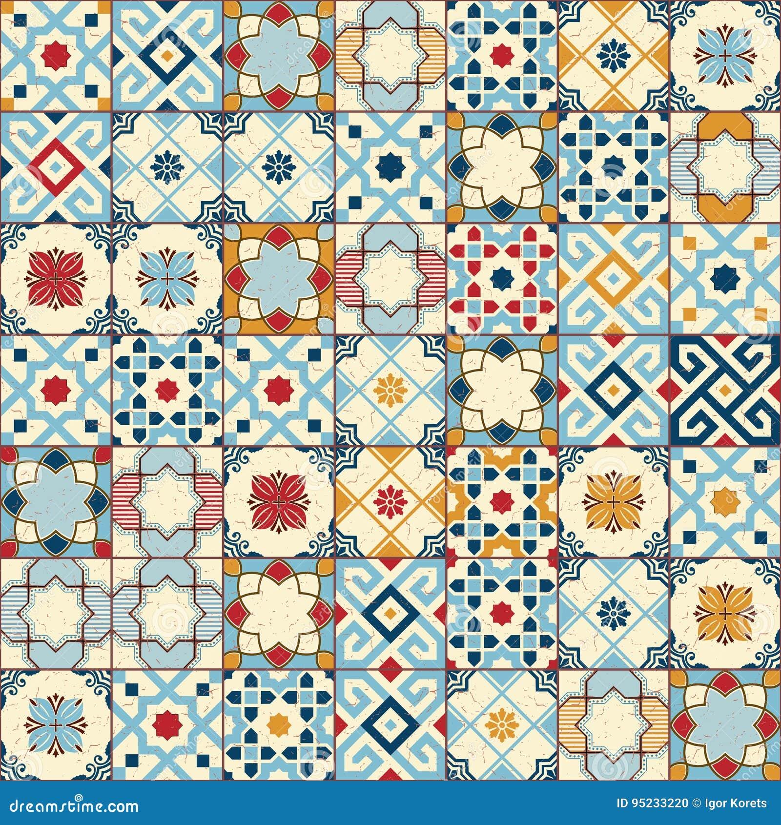 Herrliches Nahtloses Muster Weiße Bunte Marokkanische ...