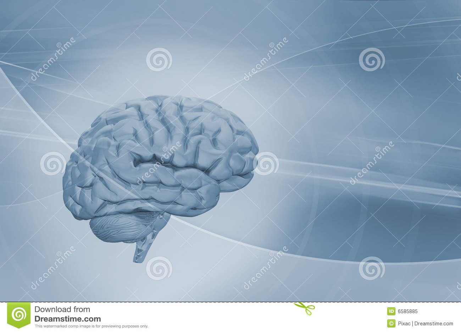 Hersenen op abstracte achtergrond