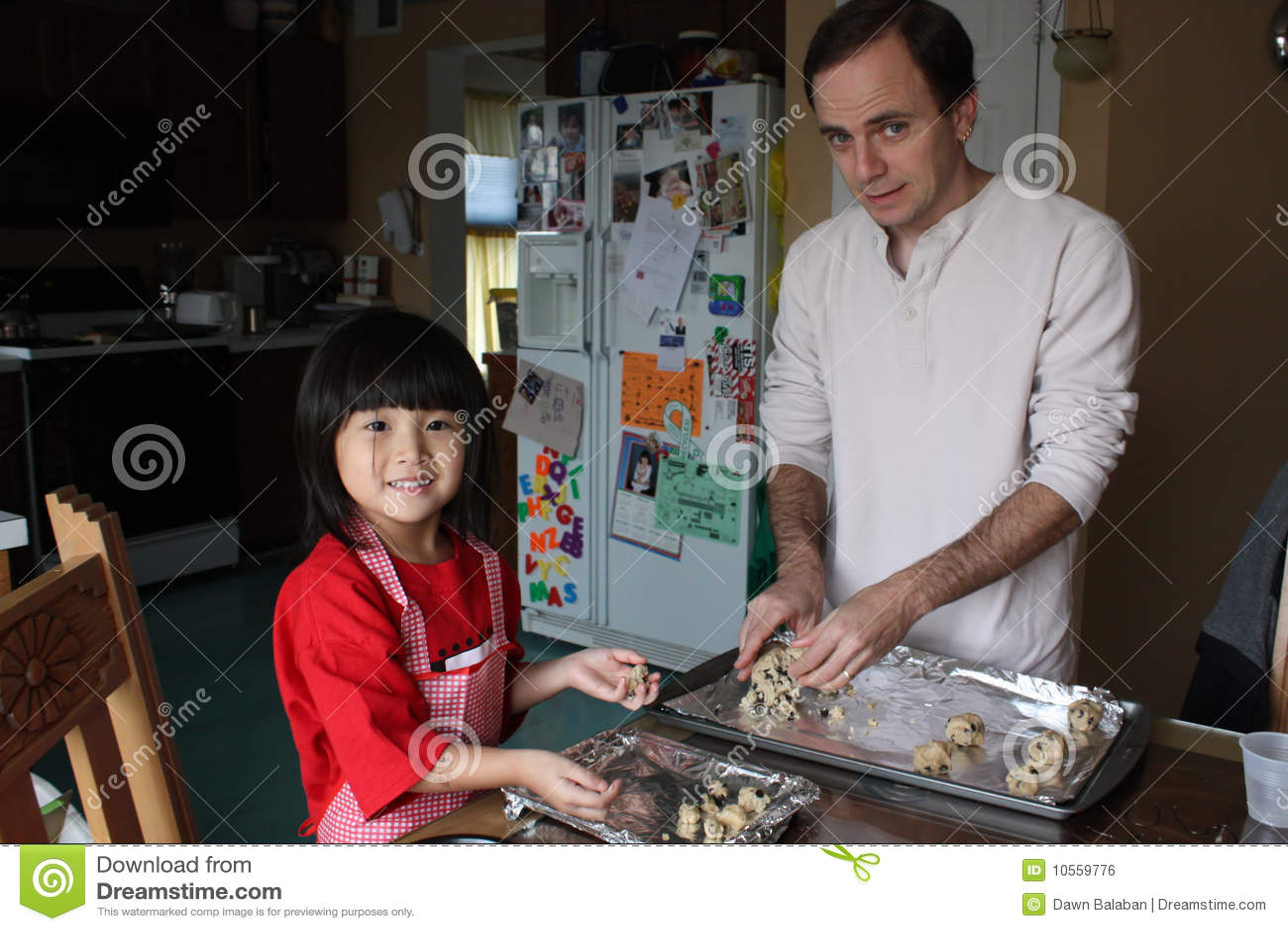 Herstellung der Plätzchen mit Vati