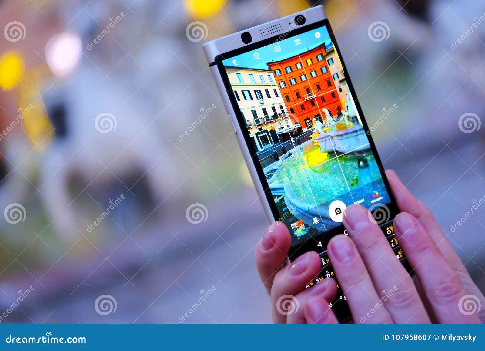 Herstellung von Fotos mit Smartphonekamera
