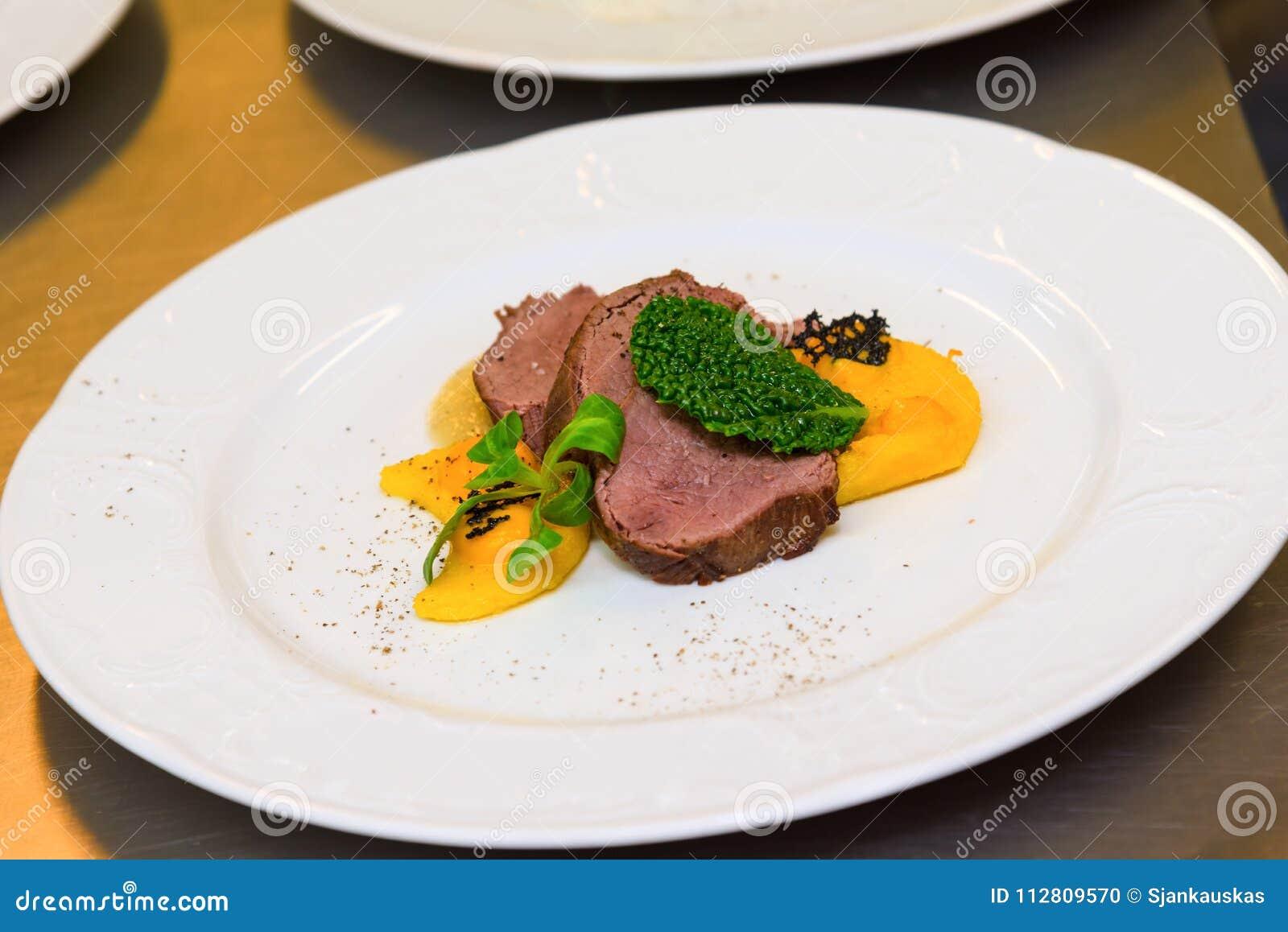 Hertevlees Gastronomische maaltijd