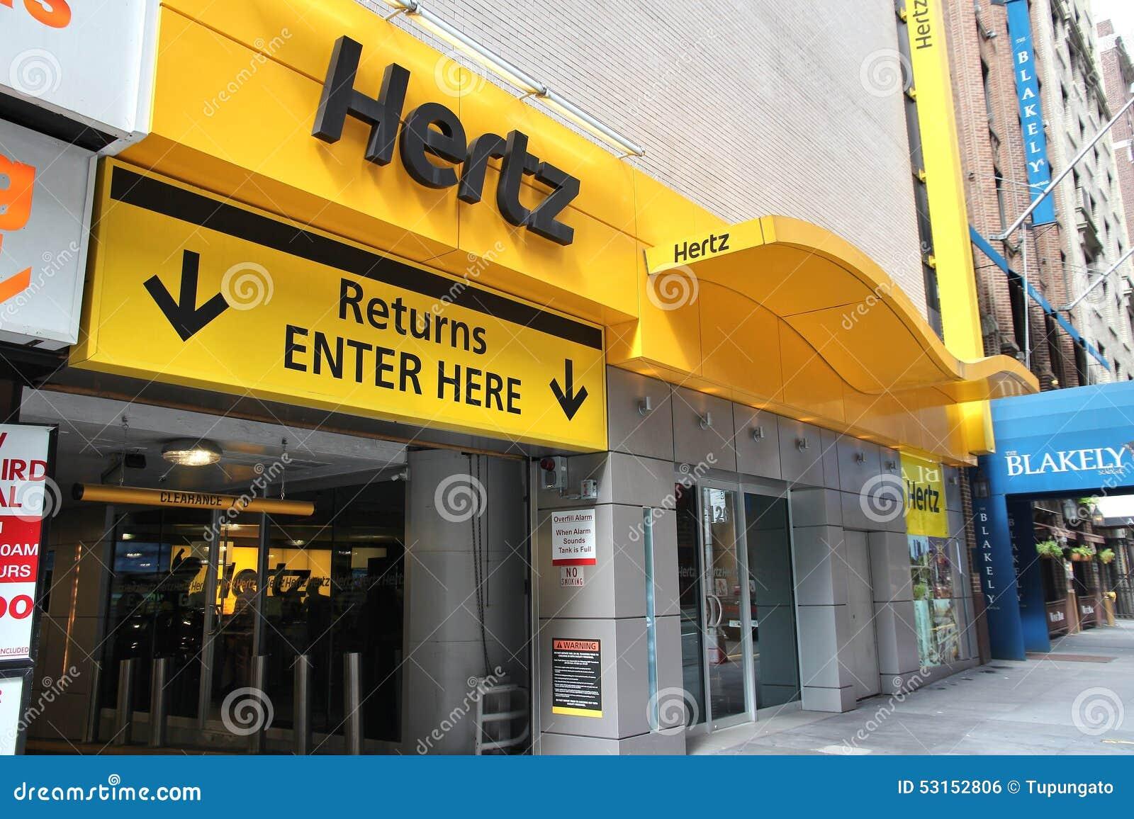 Hertz Car Rental Editorial Photo. Image Of Company, States