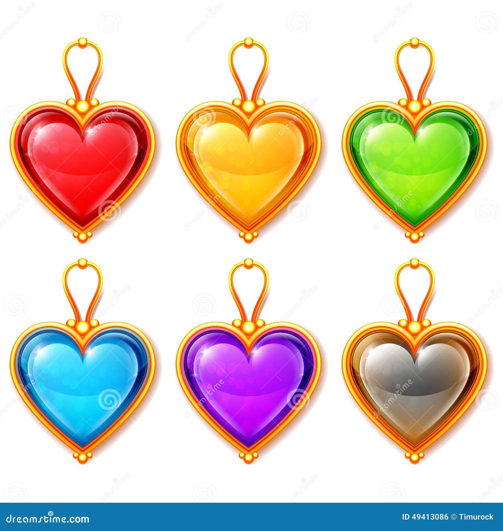 Download Herz-Anhänger vektor abbildung. Illustration von geschenk - 49413086
