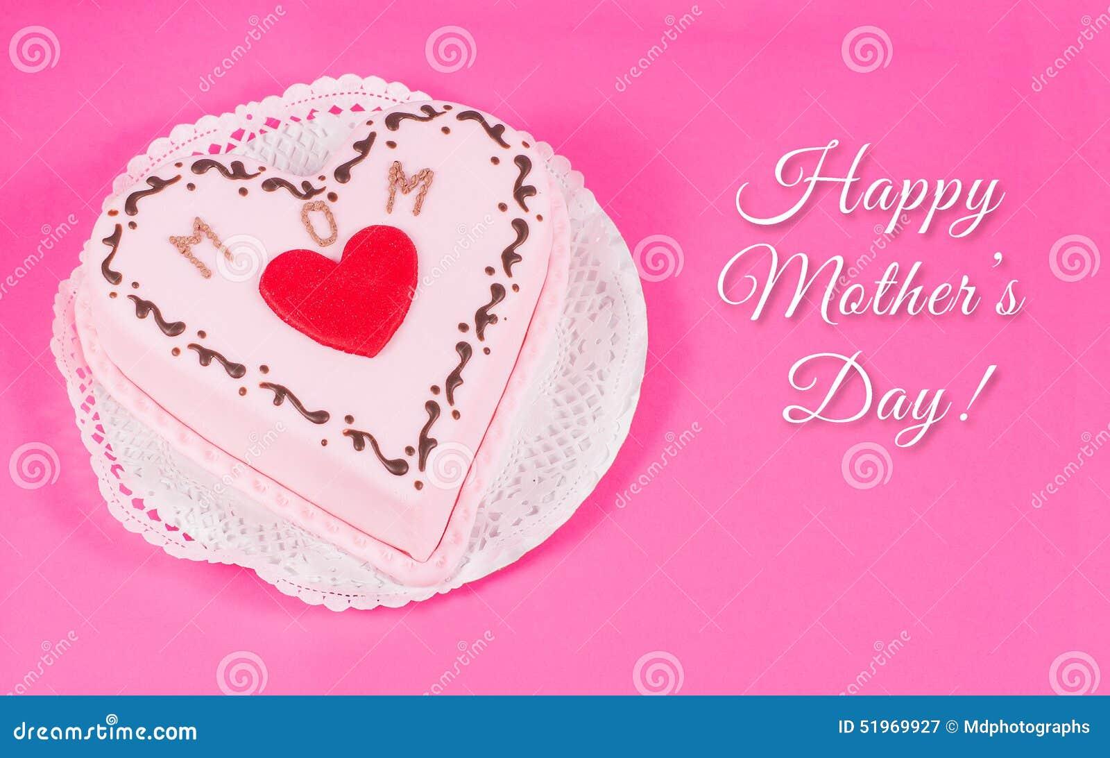 Herz Geformter Kuchen Fur Muttertag Stockbild Bild Von Gefuhl