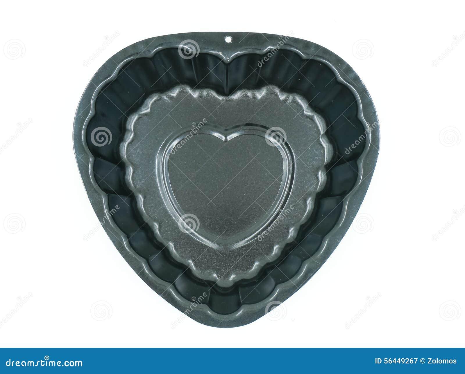 Herz Kuchen Form Fur Die Herstellung Des Kuchens Stockbild Bild
