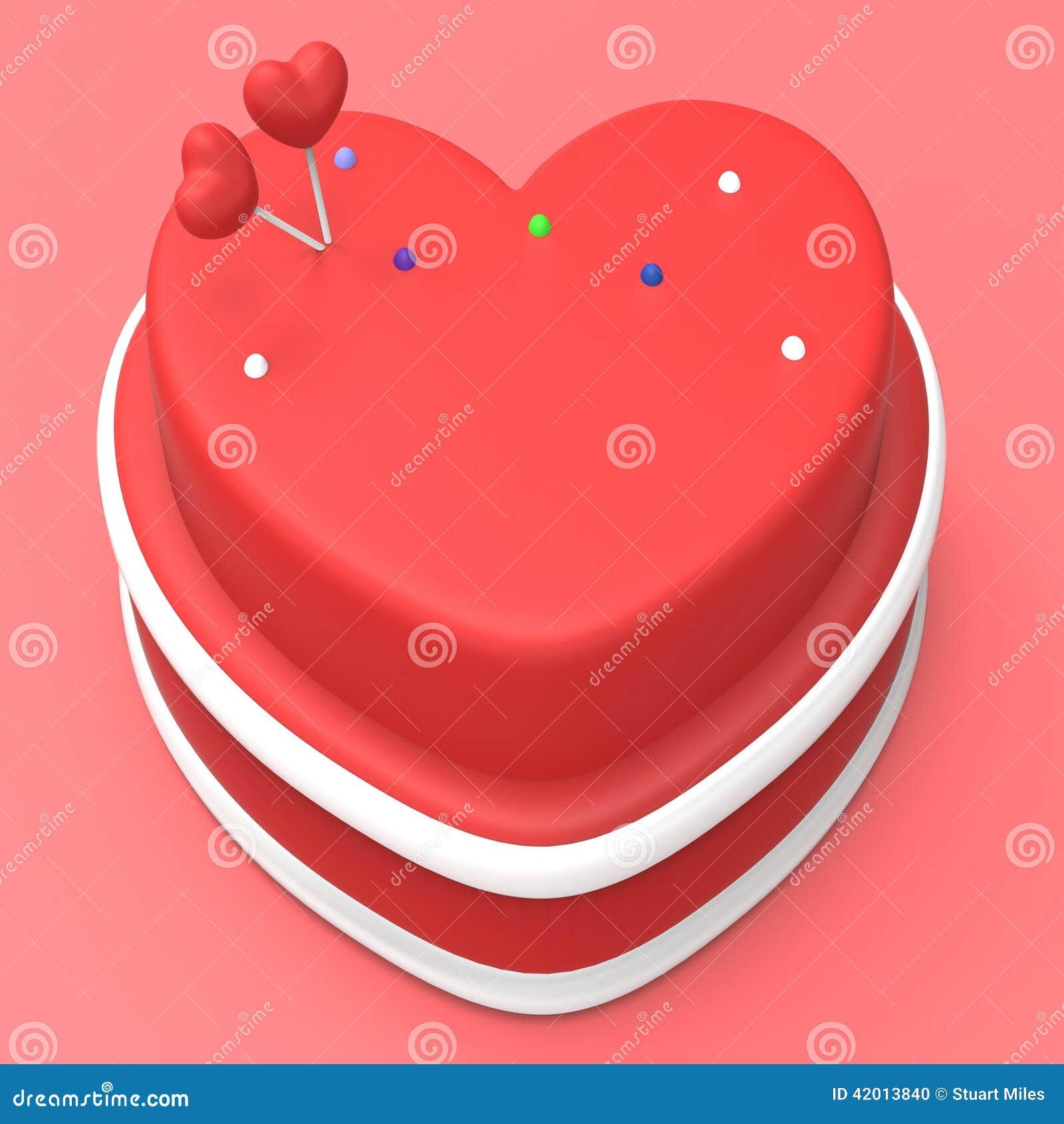 Herz Kuchen Stellt Valentinsgruss Tag Und Torte Dar Stock Abbildung