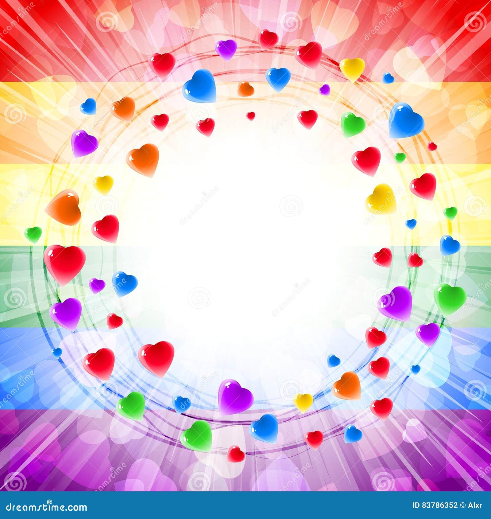 Herz-Liebe Valenitines-Hintergrund-Rahmen-Kreis-Strudel-Karte Herum ...