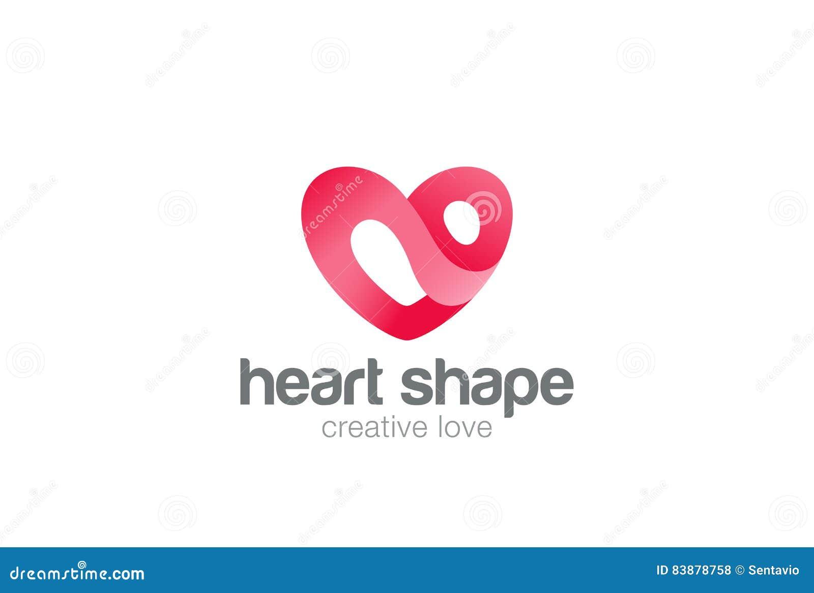 Herz Logodesign Vektorschablone St. Valentinstag Des Liebessymbols  Kardiologie Medizinische Gesundheitswesen Firmenzeichenkonzept