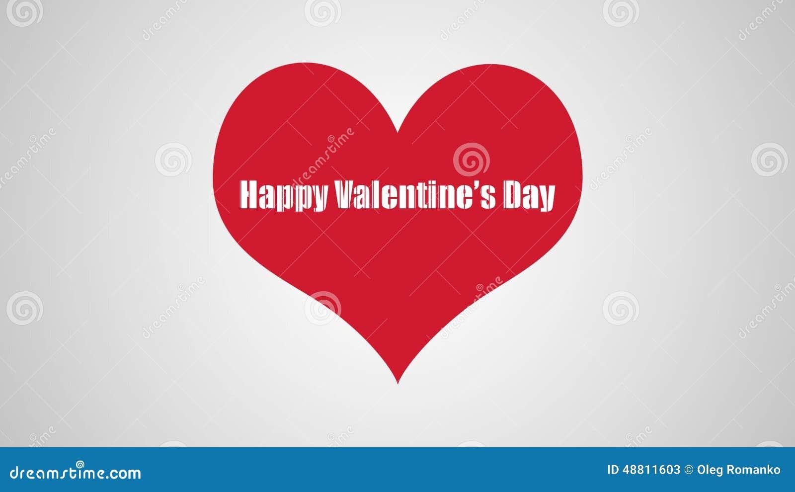 Herz Mit Einem Glückwunsch Bis Zum Valentinstag Stock Video   Video:  48811603