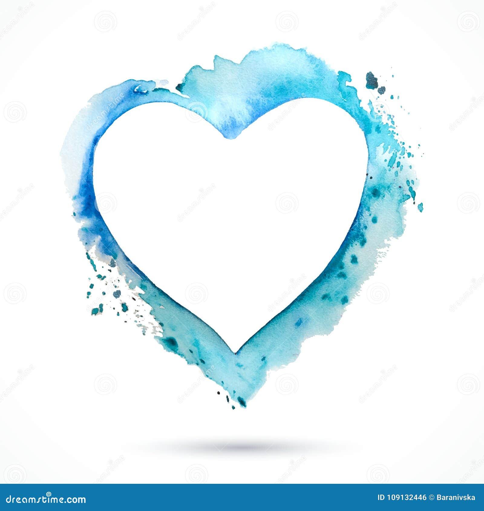 Herz-Rahmen-blau vektor abbildung. Illustration von kunst - 109132446